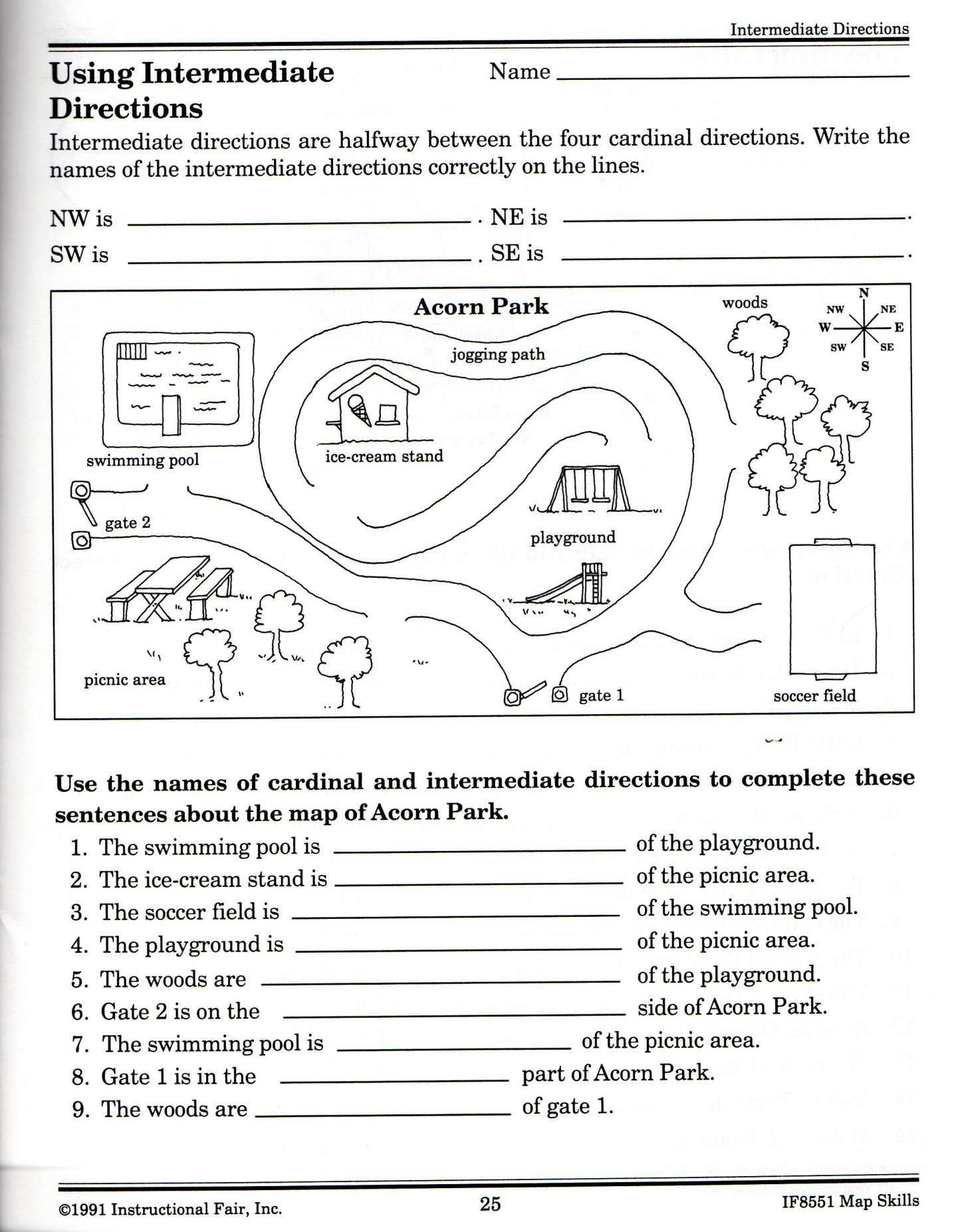 Second Grade Map Skills Worksheets Pin On 2020au