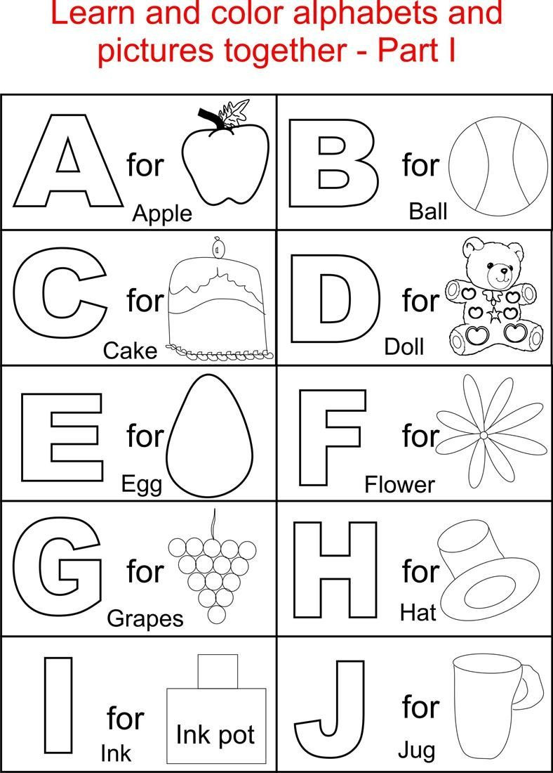 Spanish Alphabet Chart Printable Alphabets and Pictures Colouring for Kids