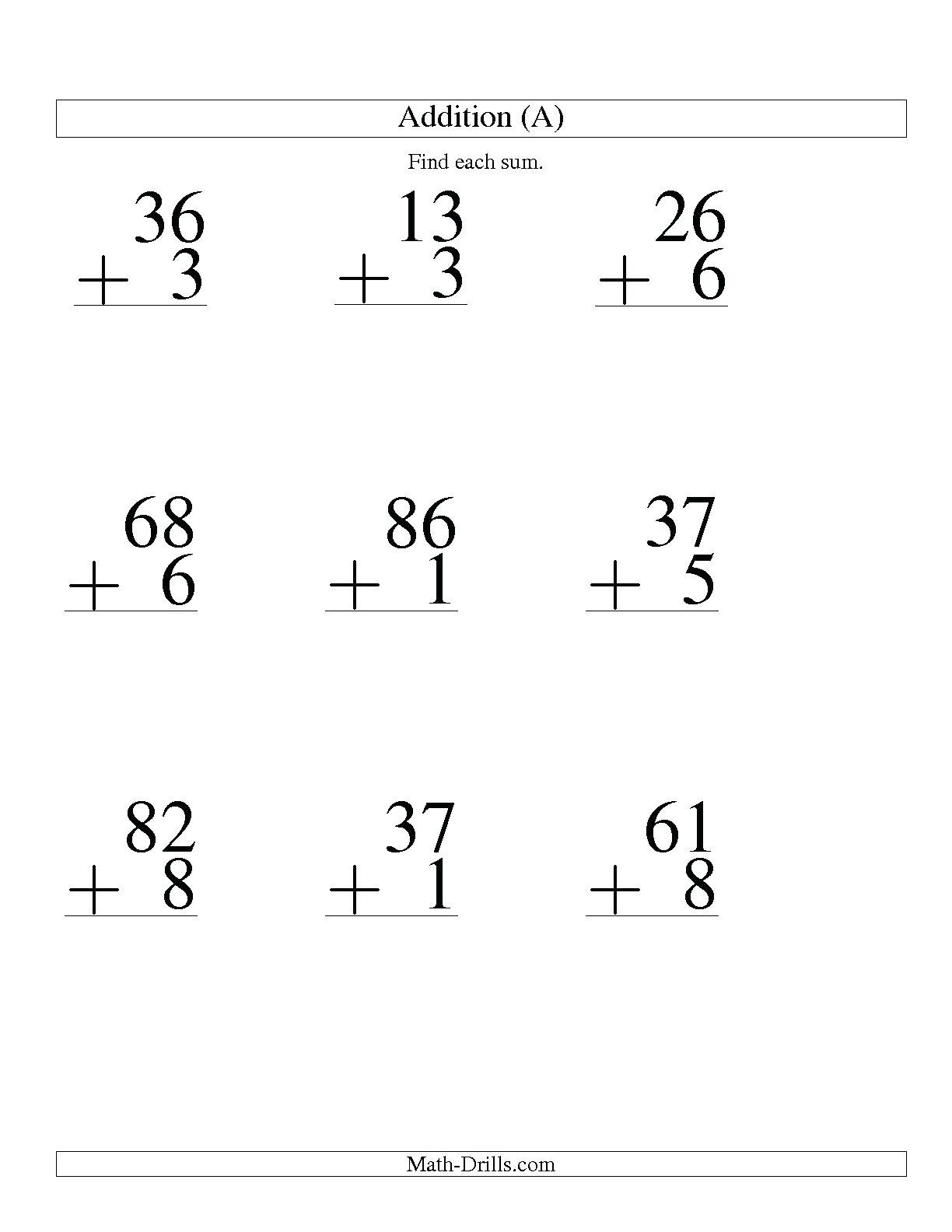 Subtraction Worksheet for 1st Grade 5 Free Math Worksheets First Grade 1 Addition Adding 2 Digit