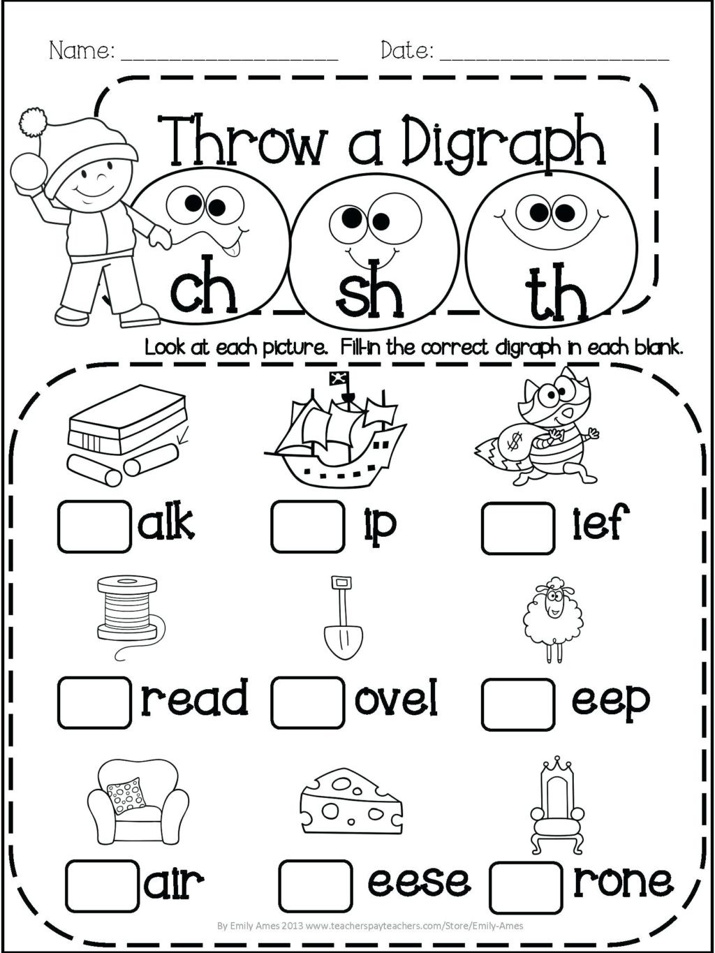 Subtraction Worksheet for 1st Grade Worksheet 1st Grade Reading Prehension Test Math and