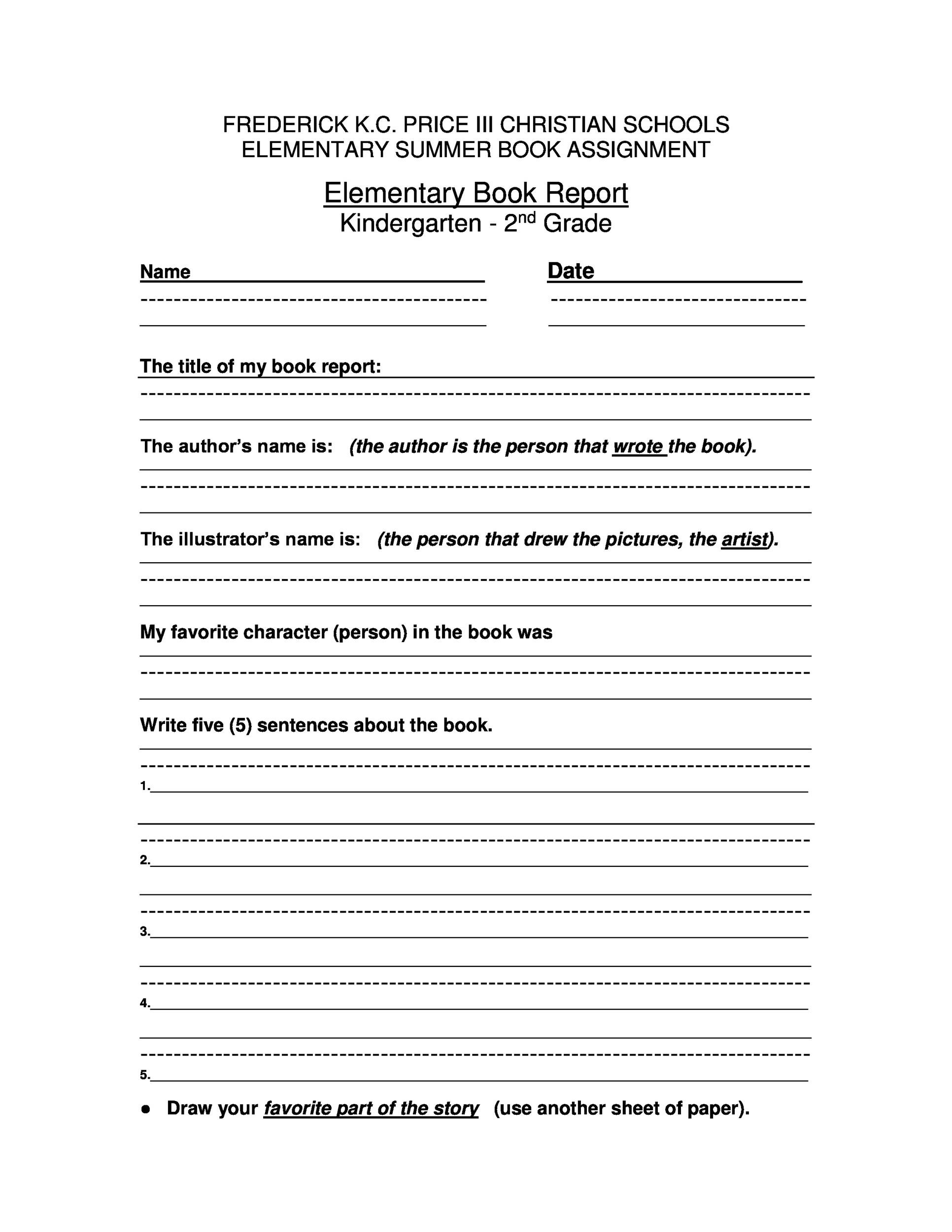 Summary Worksheets Middle School 30 Book Report Templates & Reading Worksheets