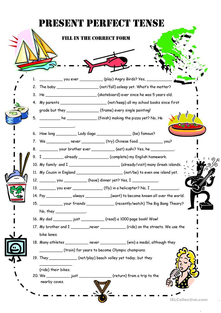 Tenses Worksheets for Grade 5 A1 Present Perfect Simple Practice for Oxford Quest Unit 5