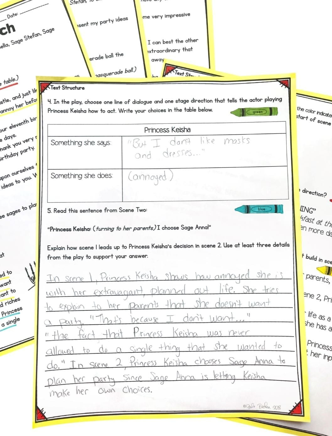 Text Structure 4th Grade Worksheets Text Structure In Stories Poems and Plays 4th Grade Rl 4 5 & 5th Grade Rl 5 5