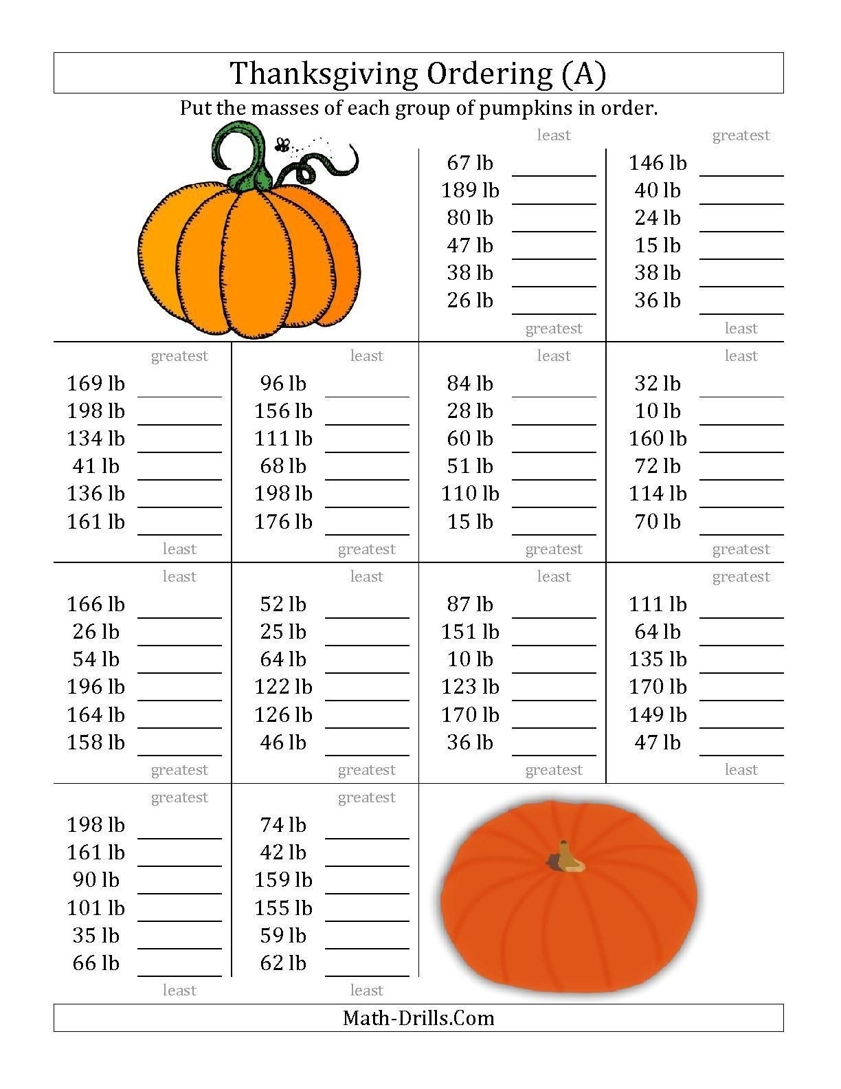 Thanksgiving Math Worksheets Middle School 30 Thanksgiving Math Worksheets Middle School In 2020