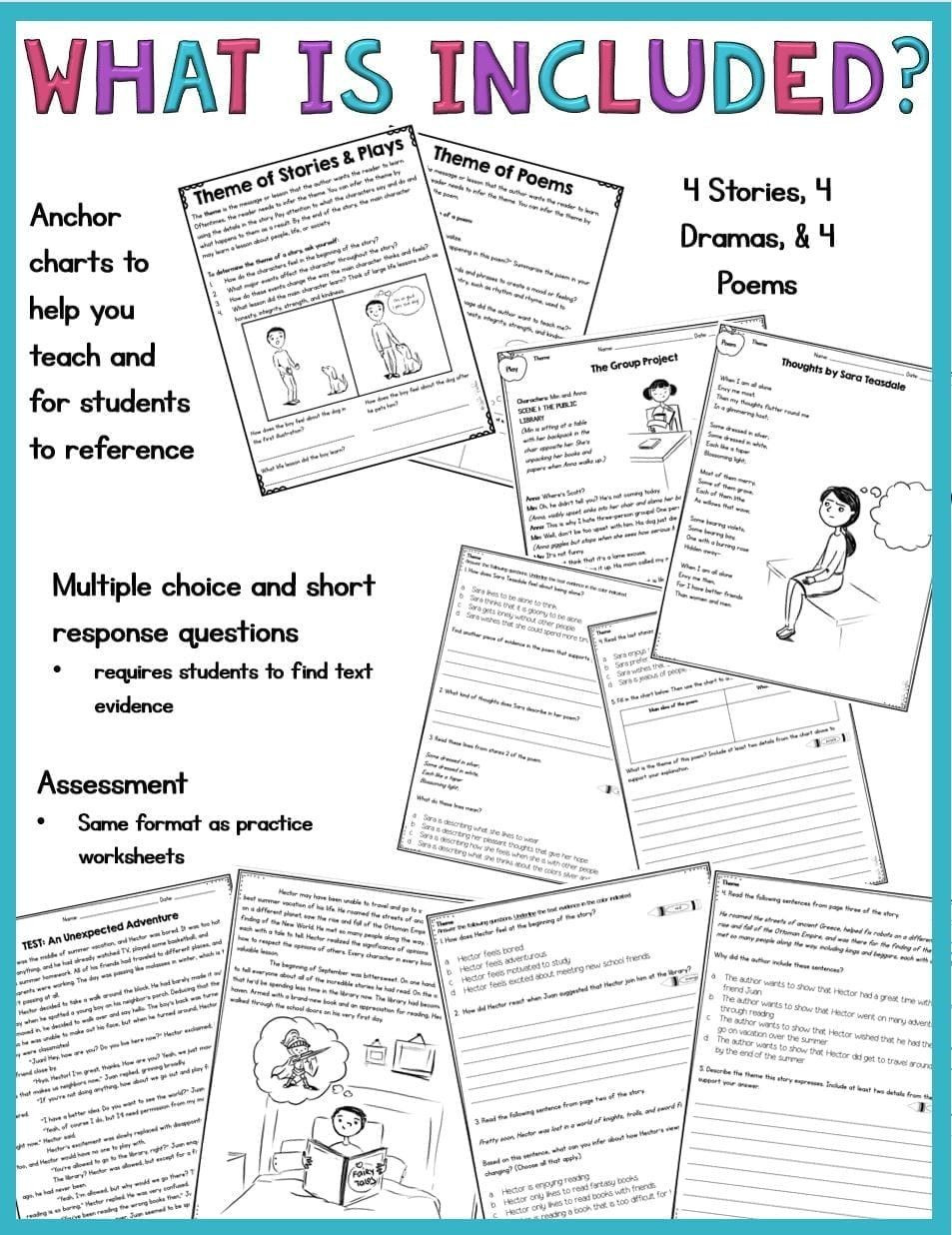 Theme Worksheets Grade 5 Pin On Educational Worksheets Template