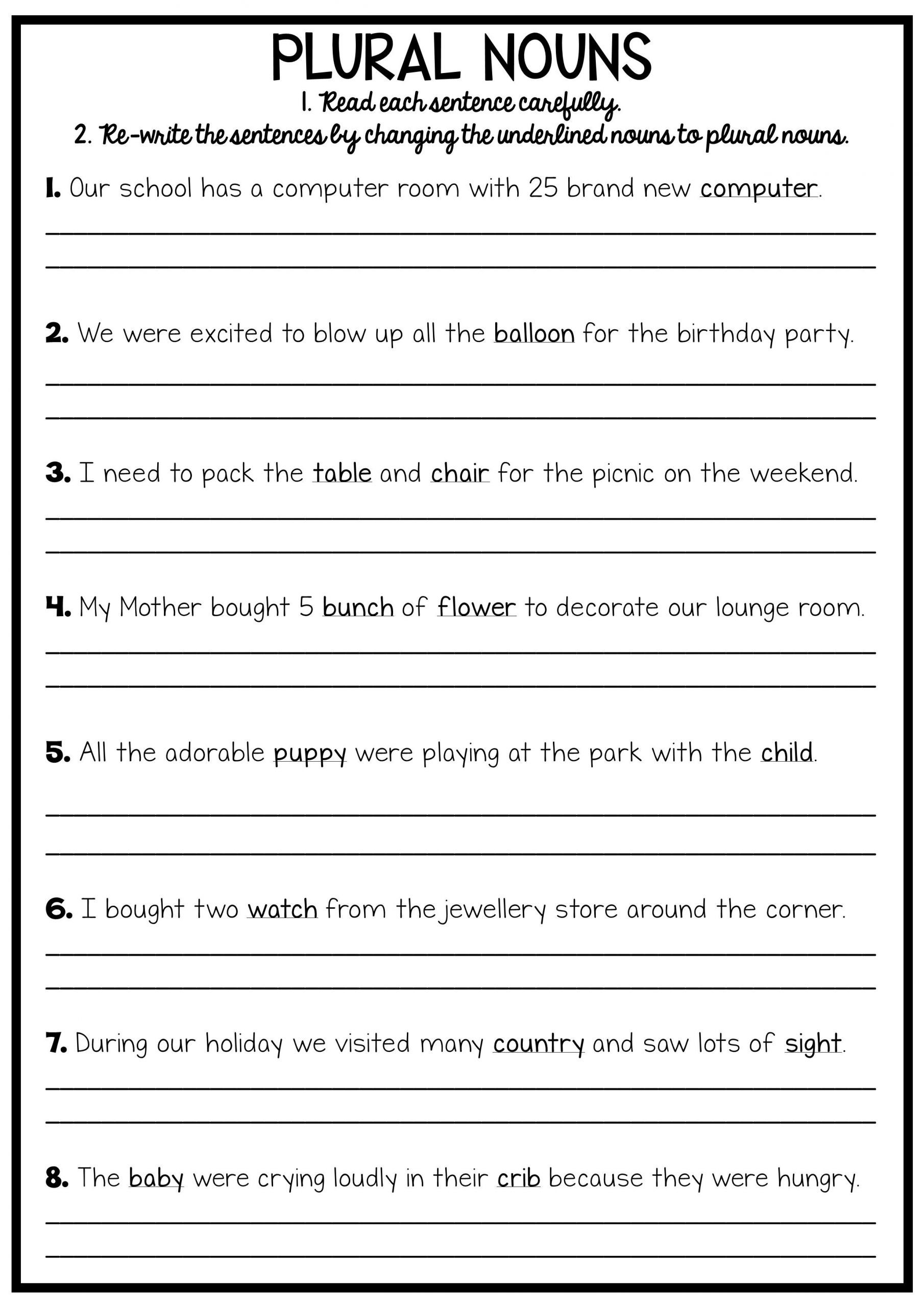 Third Grade Grammar Worksheets Grammar Worksheets 8th Grade English Printable Reading