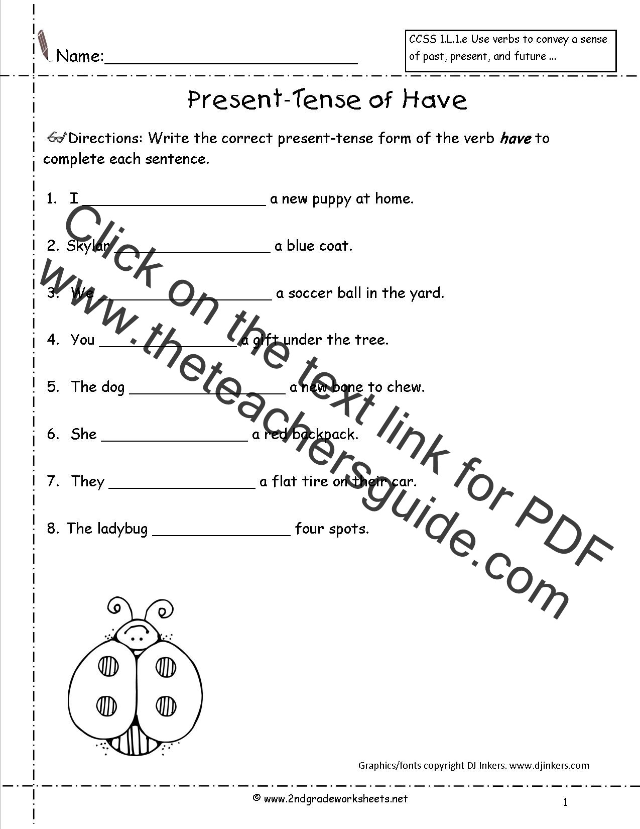 Verb Tense Worksheets 1st Grade 4th Grade Verbs Worksheet
