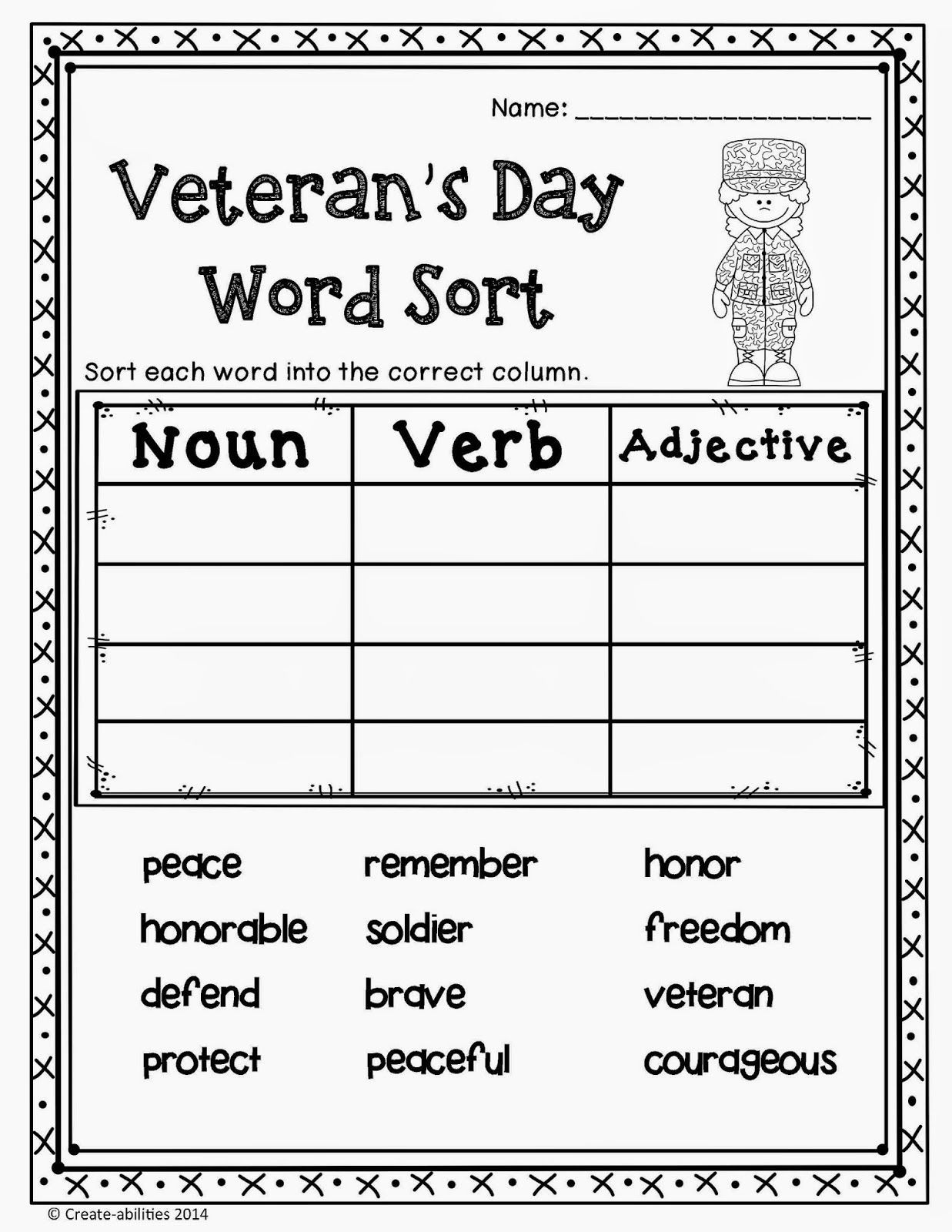 Veterans Day Math Worksheets Remembrance Day Worksheets Free