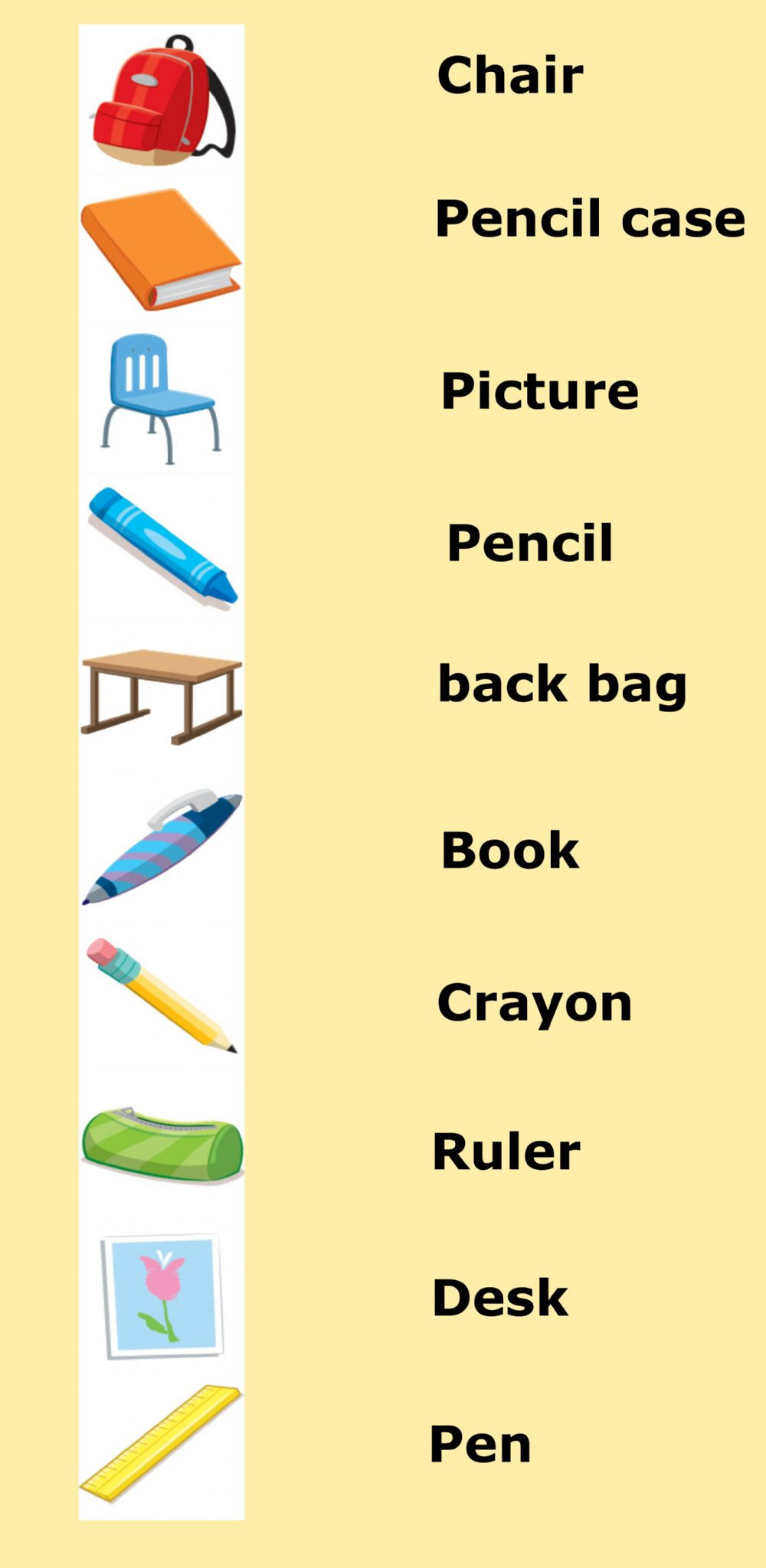 Vocabulary Worksheets for 1st Graders 1st Grade Vocabulary Class Objects Interactive Worksheet