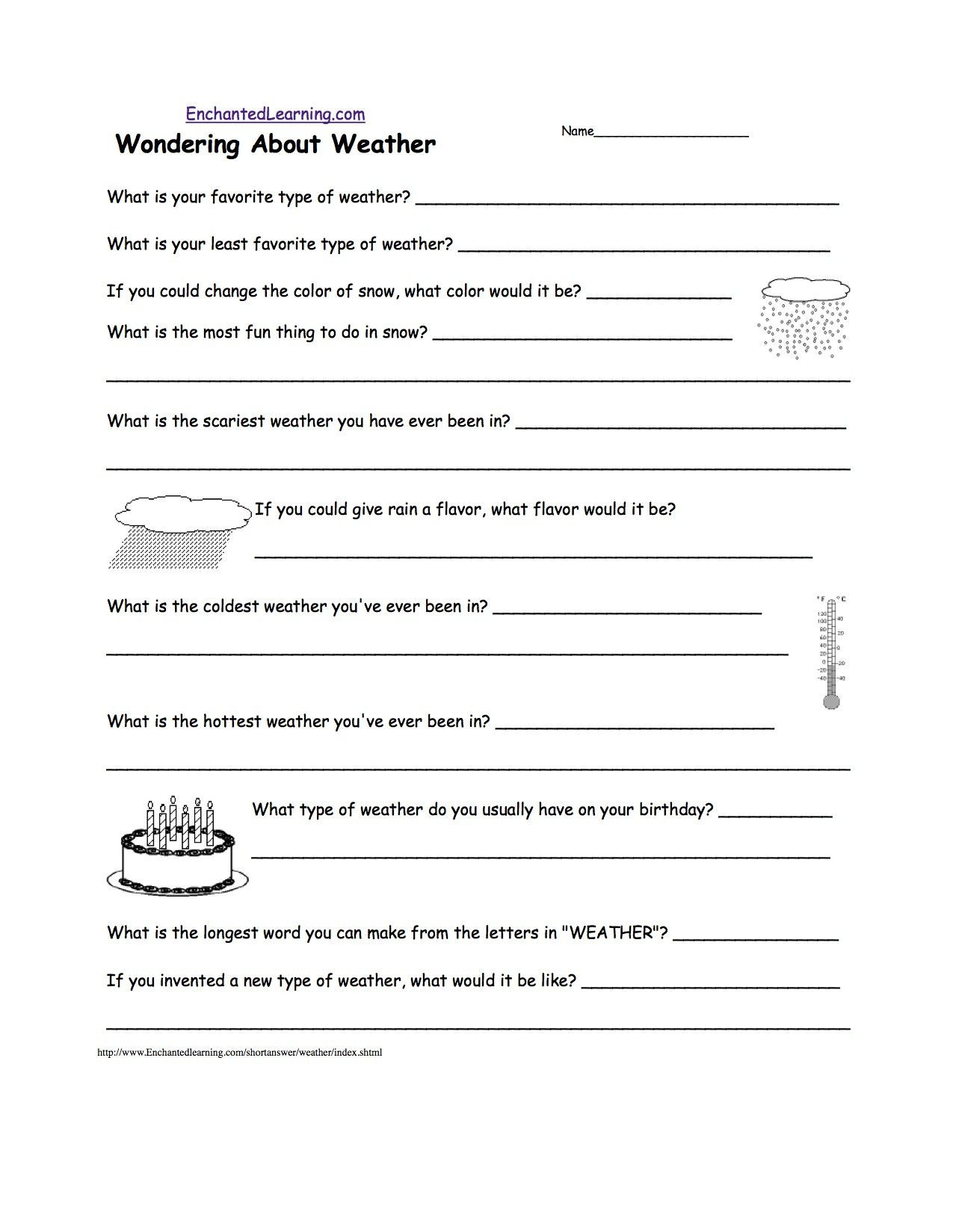 Weather Worksheets for 3rd Grade 42 3rd Grade Weather Worksheets