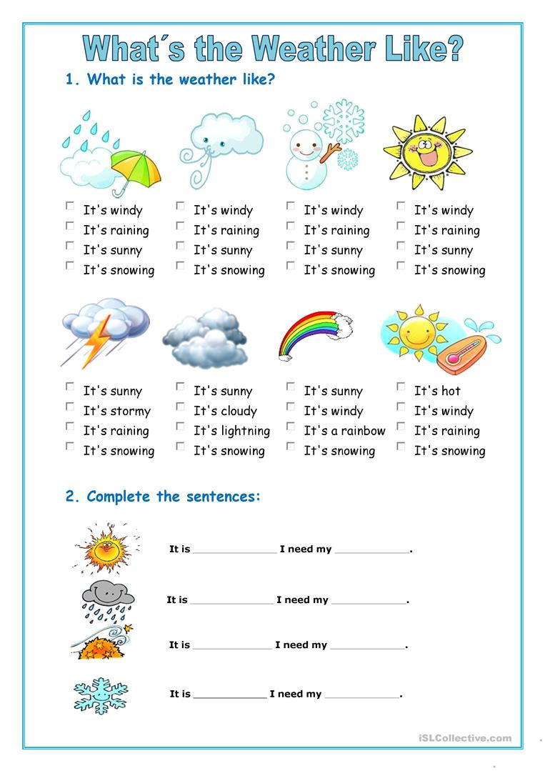 Weather Worksheets for 3rd Grade the Weather English Esl Worksheets for Distance Learning