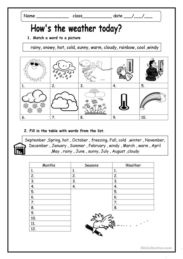 Weather Worksheets for First Graders Weather Worksheets Skylikes Yahoo Image Search Results