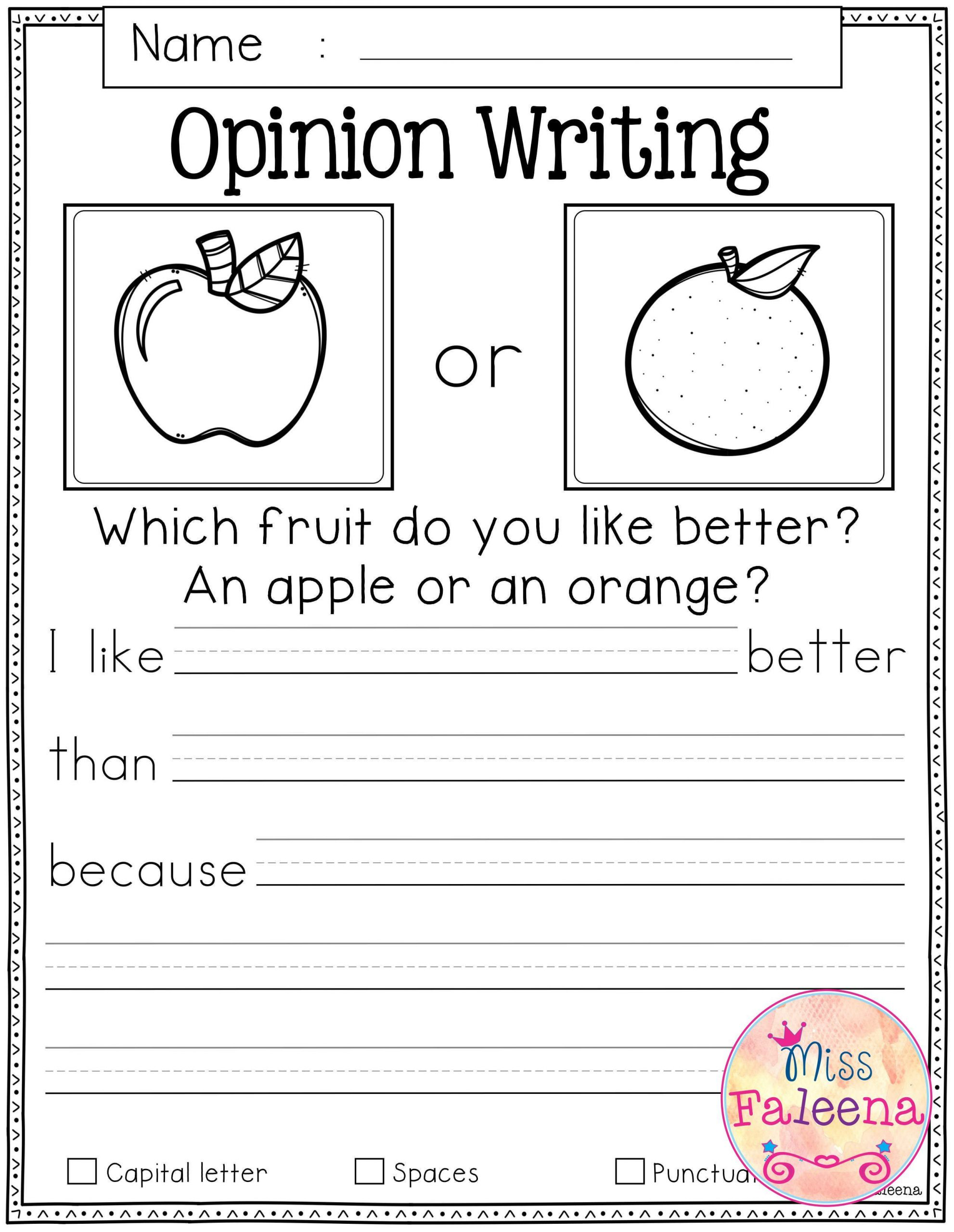 Writing Worksheet 1st Grade Writing Worksheets for First Graders