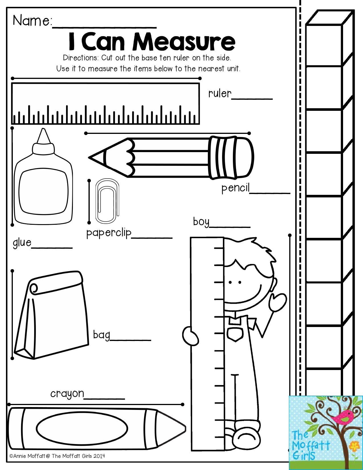 2nd Grade Measurement Worksheet I Can Measure Have Students Use the Measuring Stick to See