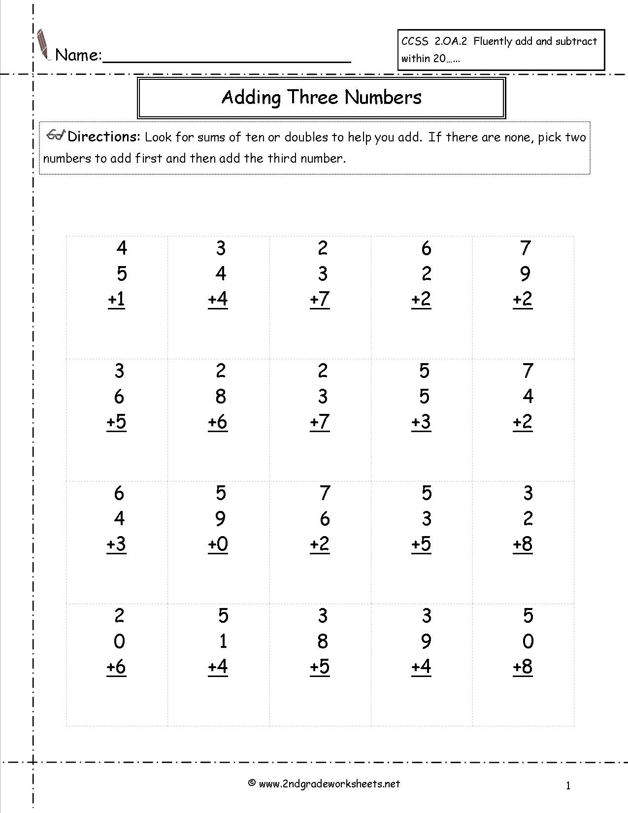 2nd Grade Multiplication Worksheets Math Worksheet Free Maths and Printouts Practice for 2nd
