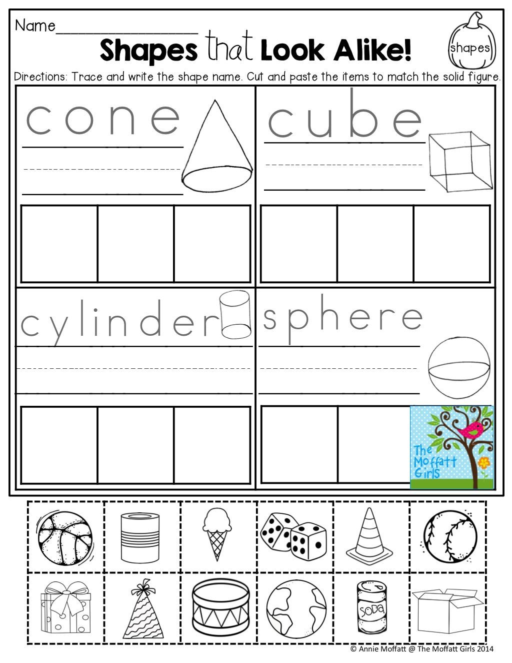 3d Shapes Worksheets 2nd Grade October Fun Filled Learning Resources