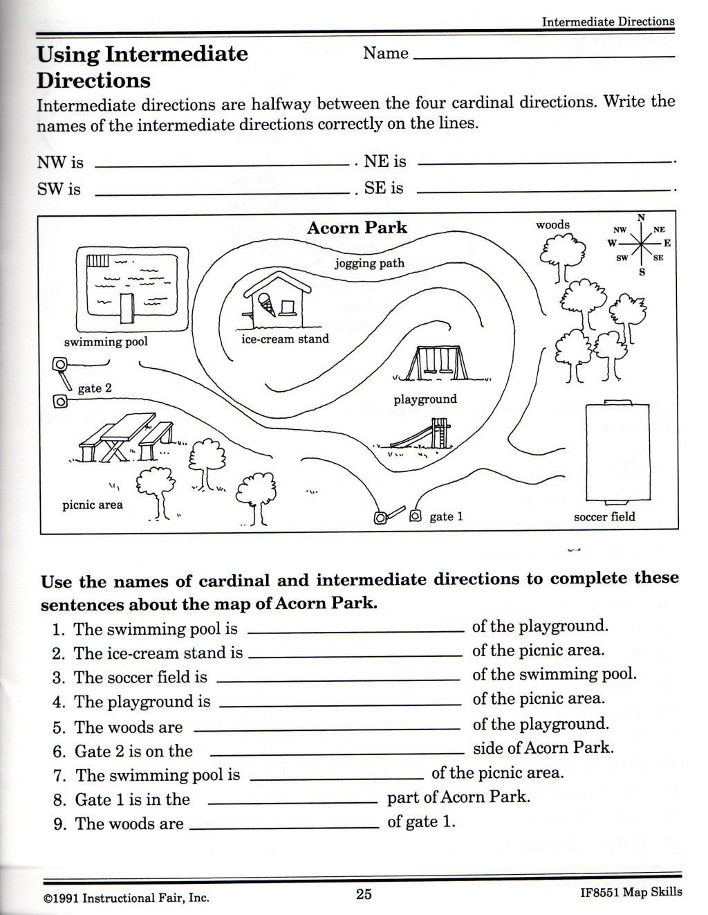 map skills worksheets for print