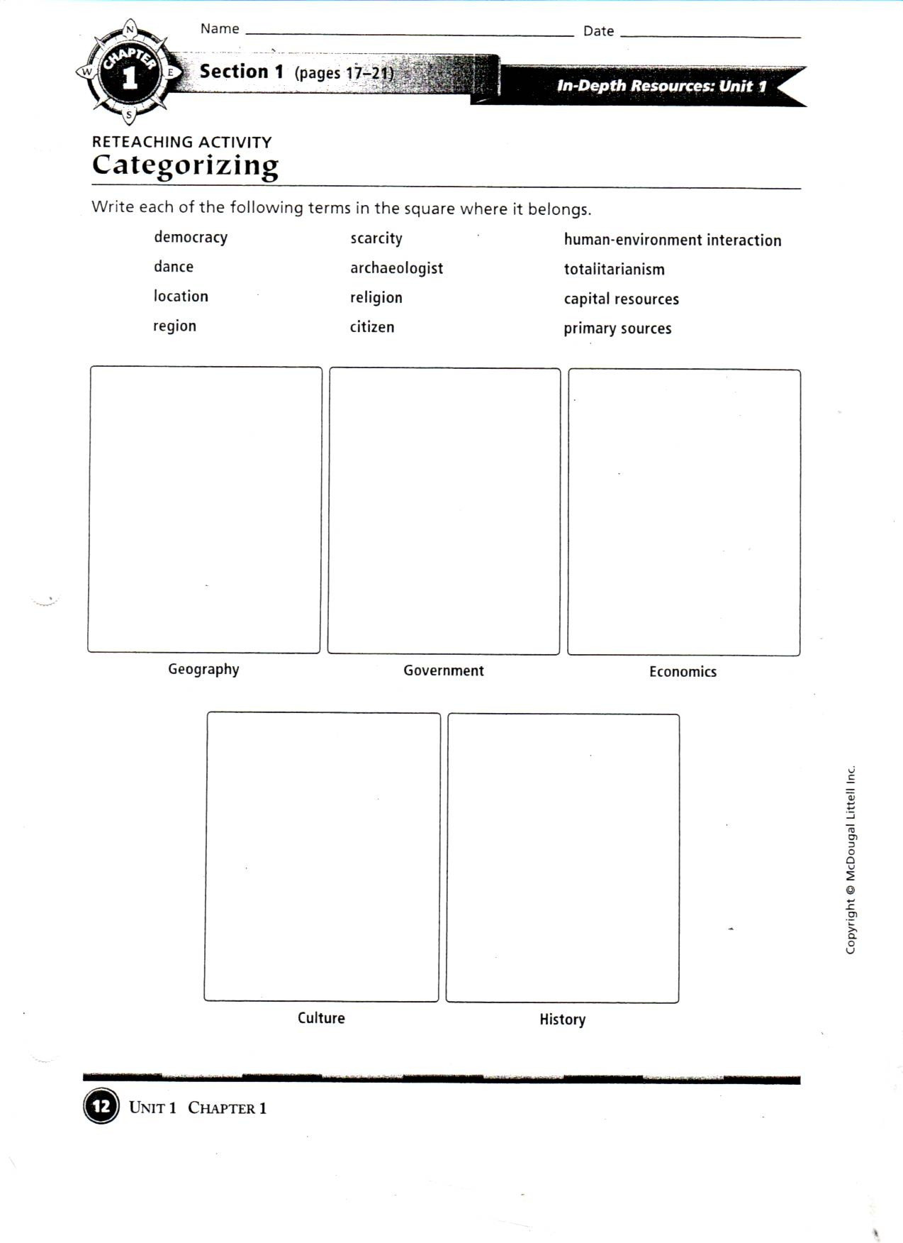 5th Grade Geography Worksheets Geography Worksheets 6th Grade