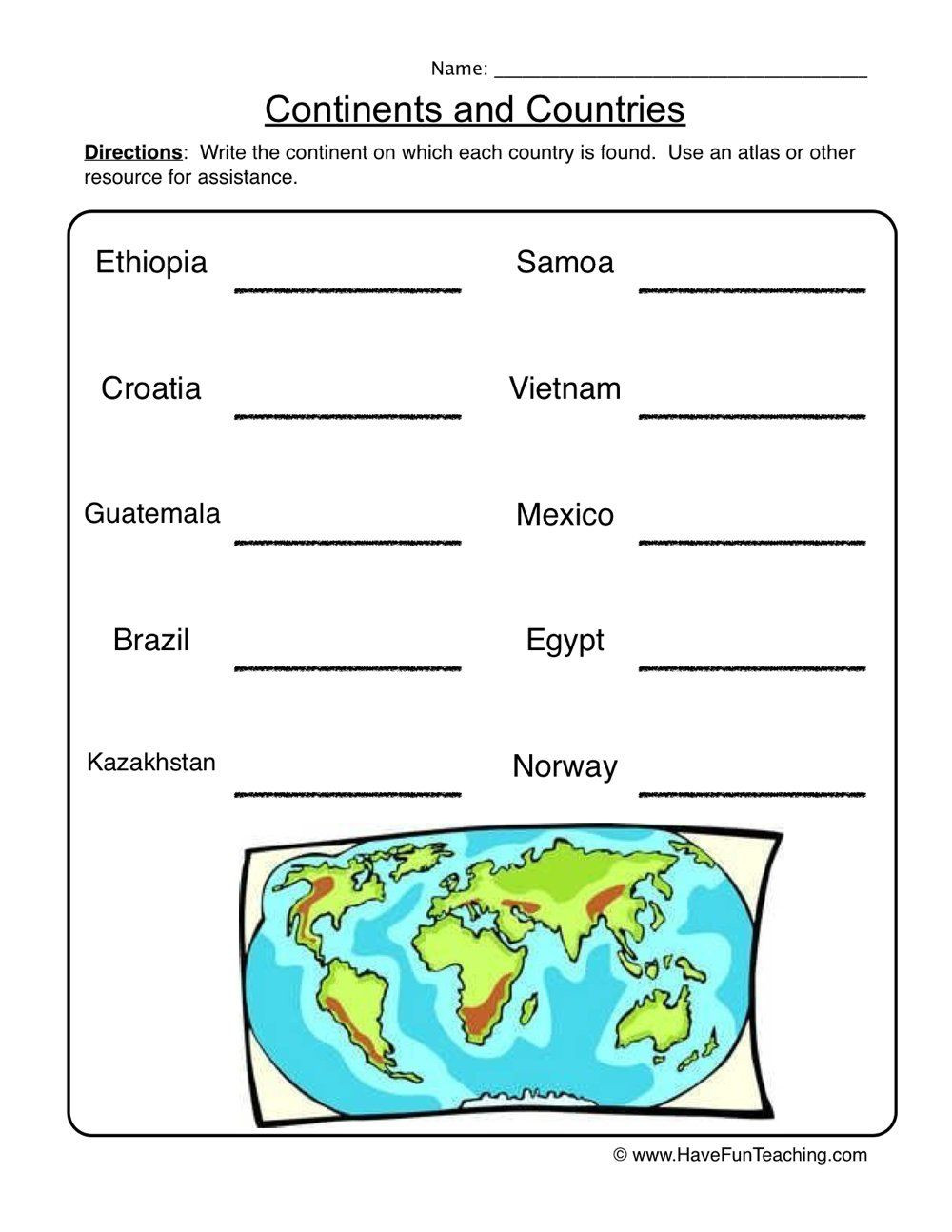 5th Grade Geography Worksheets Resources Worksheets Offset=5