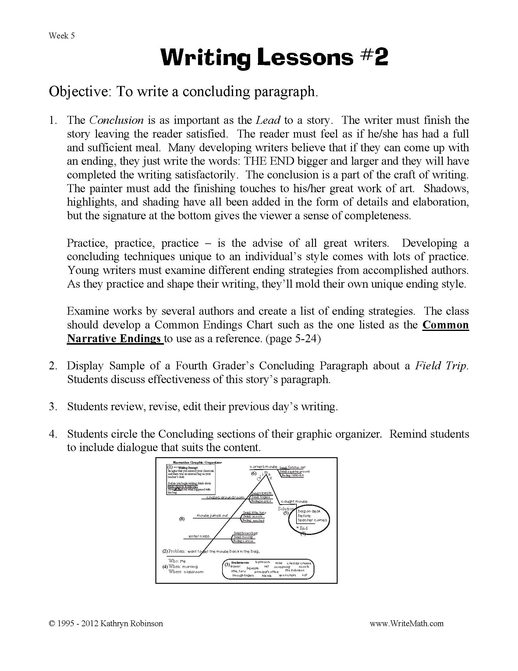 6th Grade Essay Writing Worksheets Worksheet for Writing topic for Students