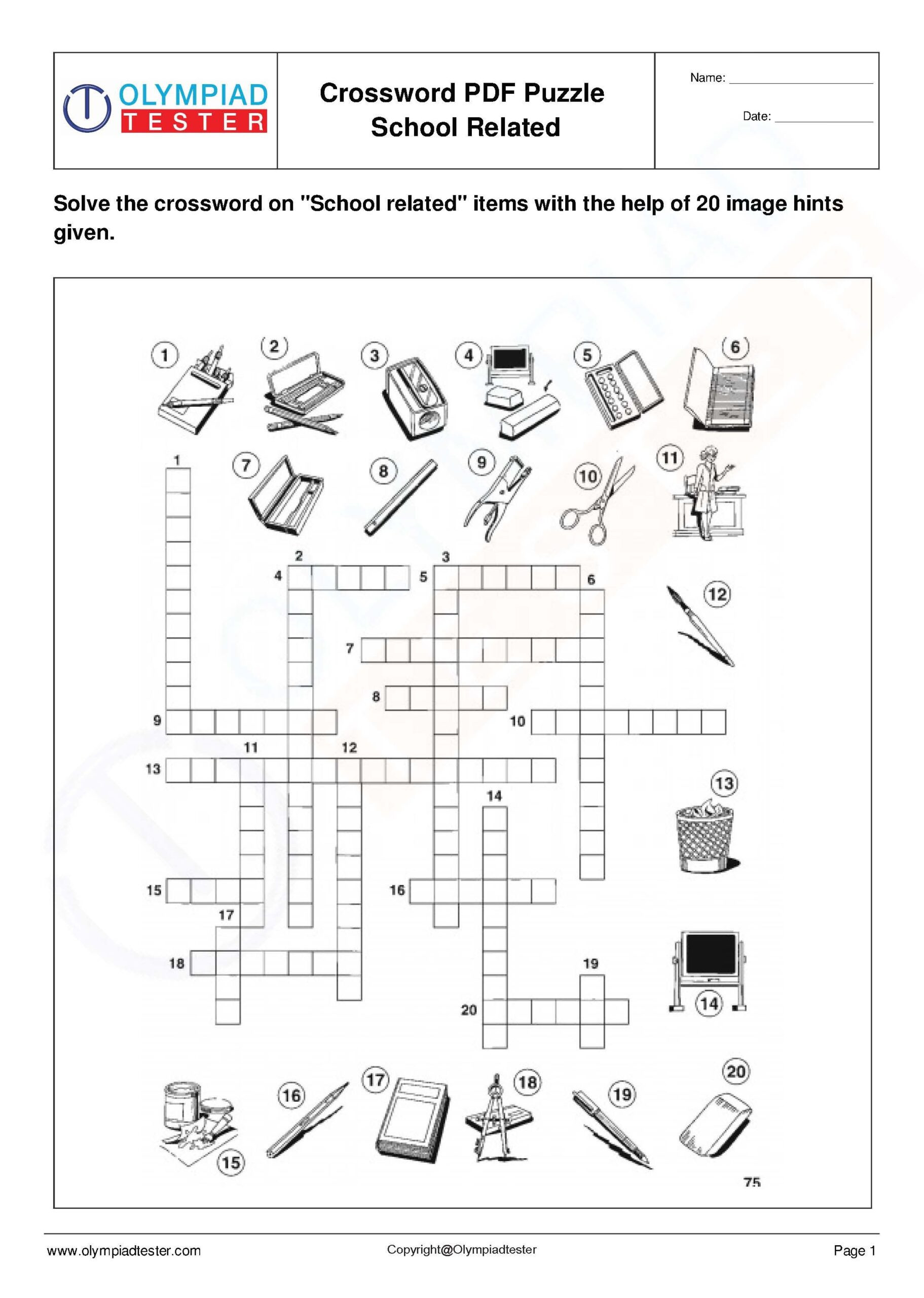 6th Grade Math Crossword Puzzles Space Science Worksheet Crossword Puzzles Printable