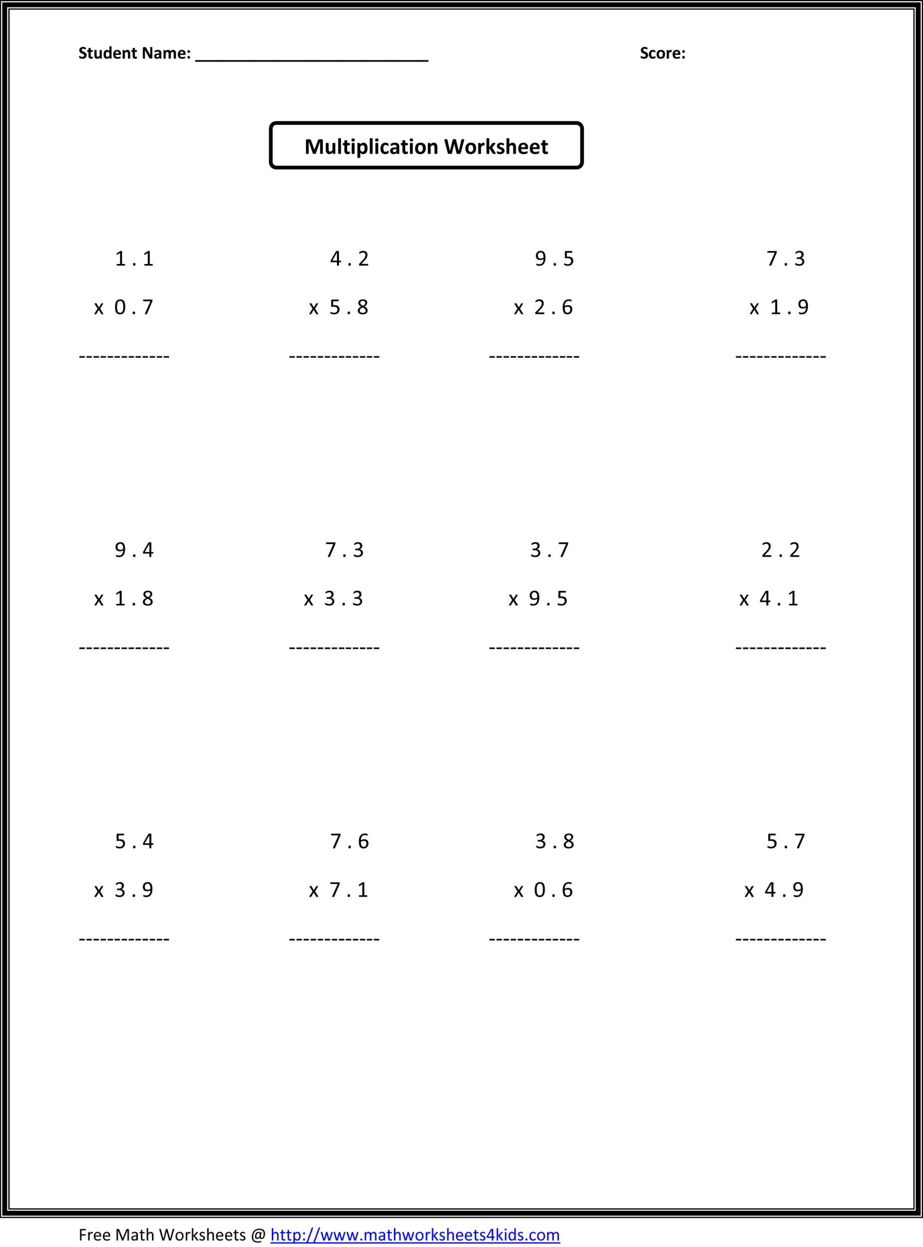 6th Grade Math Puzzle Worksheets Sixth Grade Math Sheets Printable Middle School 6th
