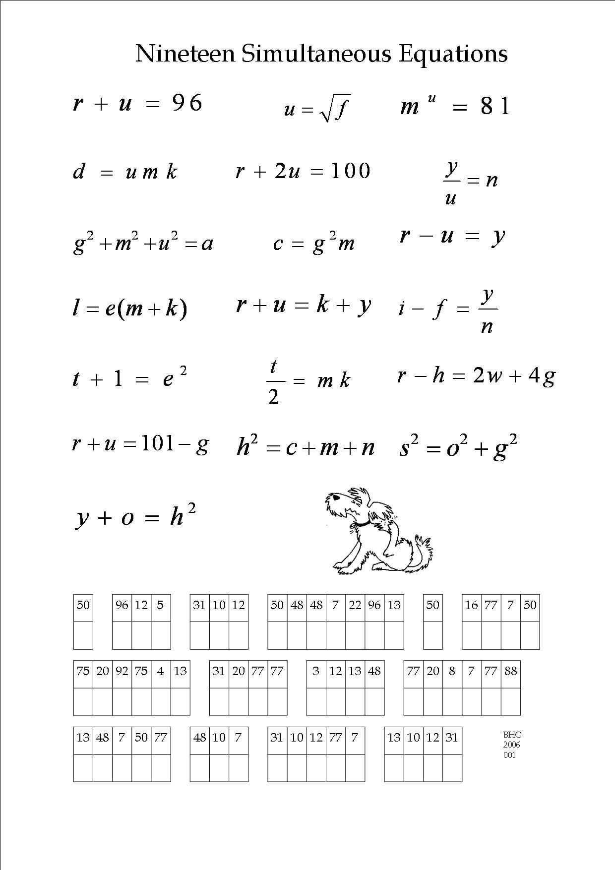 6th Grade Math Puzzle Worksheets Winter Math Puzzle Worksheet
