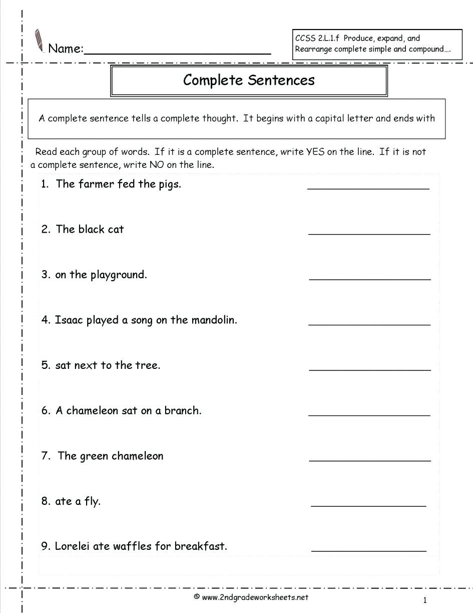 6th Grade Sentence Structure Worksheets Free Sentence Structure Worksheets – Timothyfregosoub