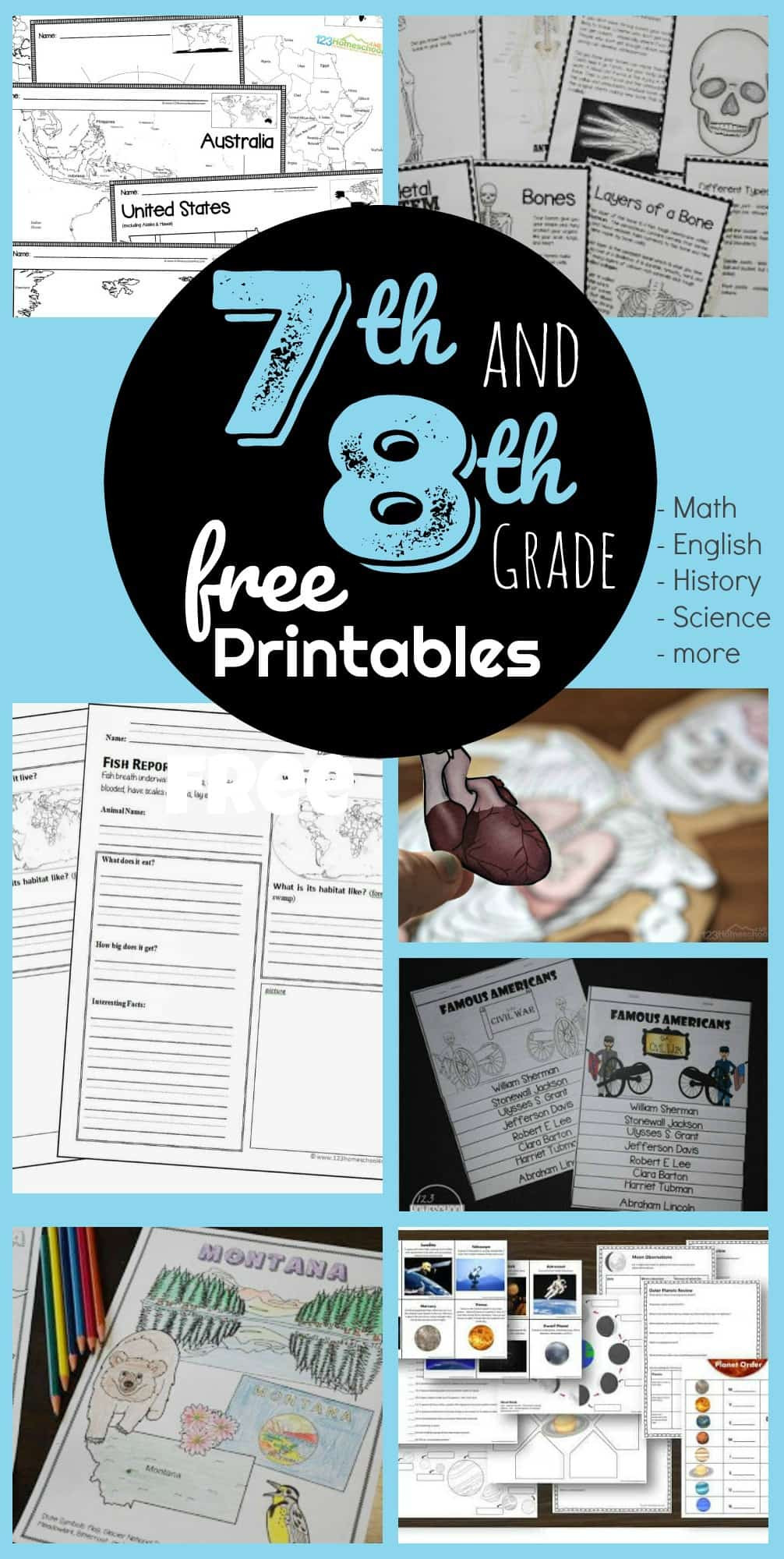 7th Grade Life Science Worksheets Free 7th 8th Grade Worksheets Science Division Problems