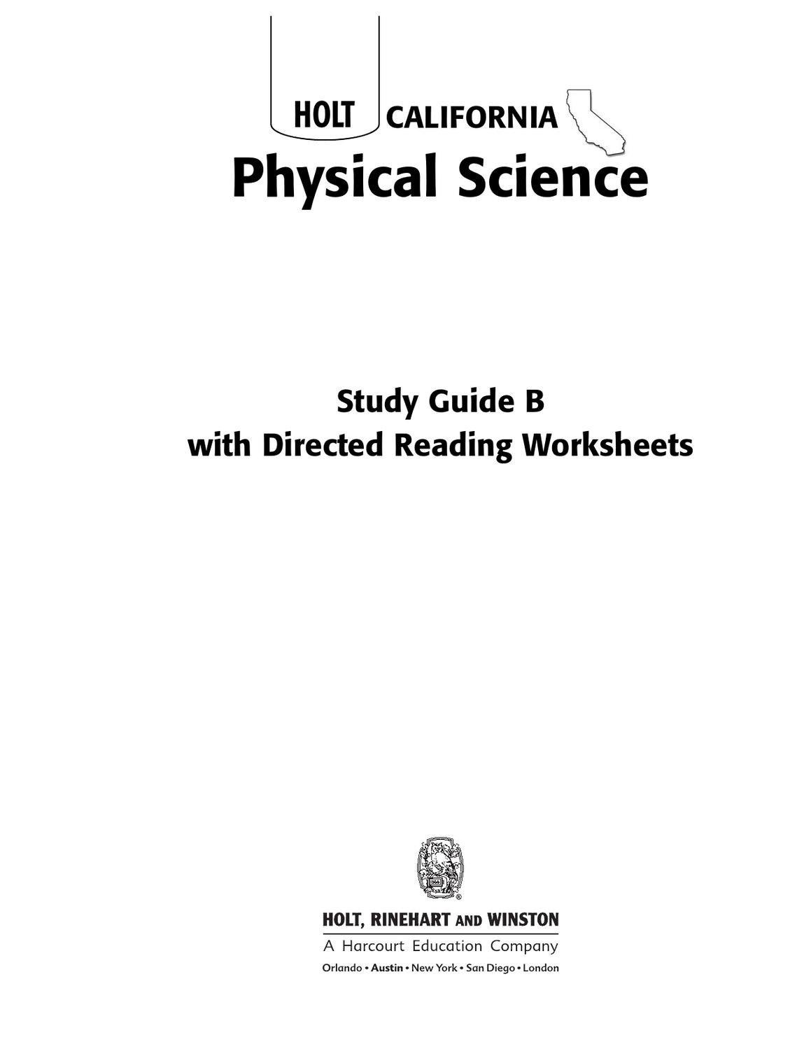 8th Grade Science Worksheets Pdf 8th Grade Science Worksheets by Lance issuu Rinehart and
