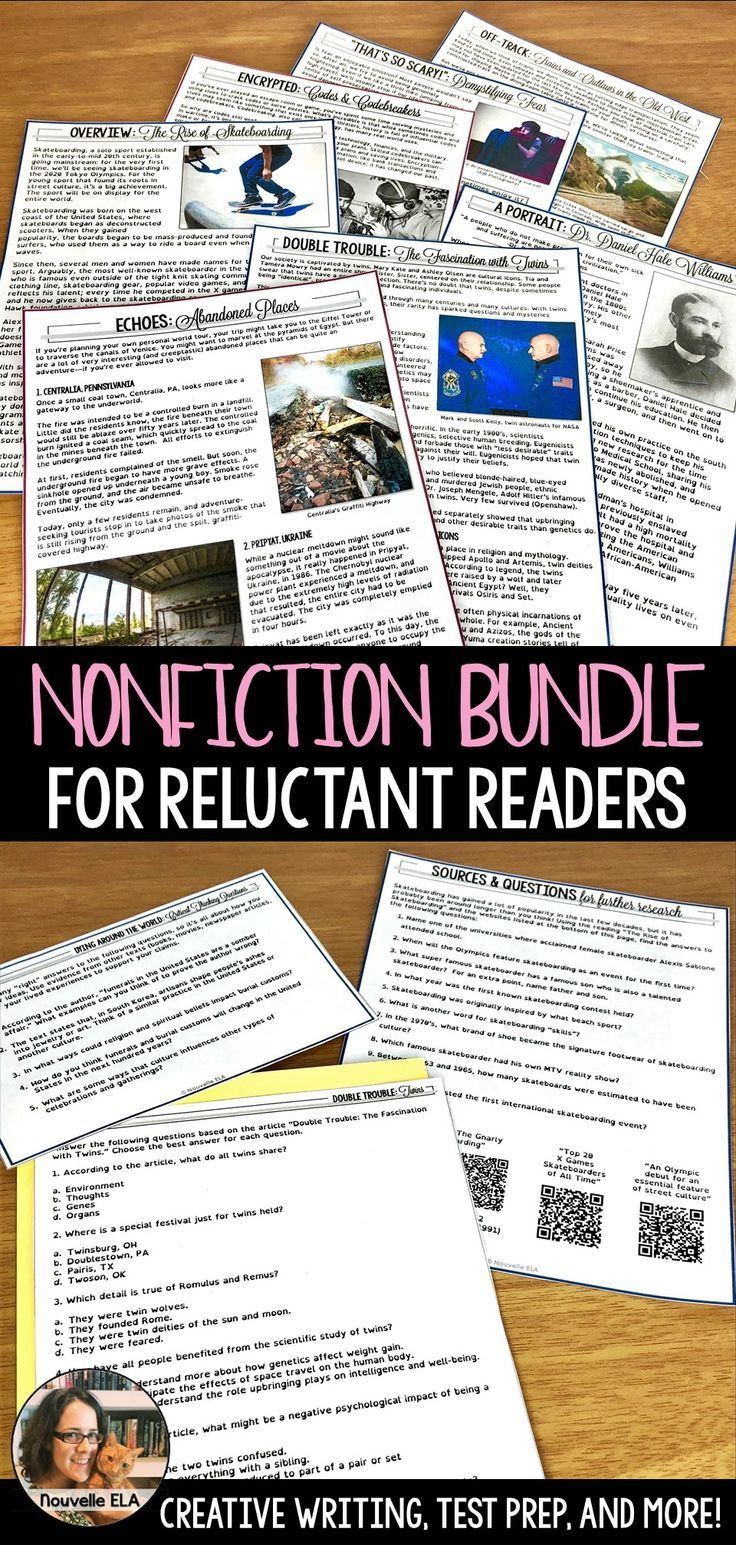 9th Grade Nonfiction Reading Passages Nonfiction Bundle Engaging Readings for 8th & 9th Grade In