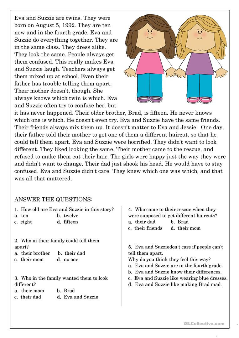 9th Grade Reading Comprehension Worksheet Reading Prehension for Beginner and Elementary Students 9