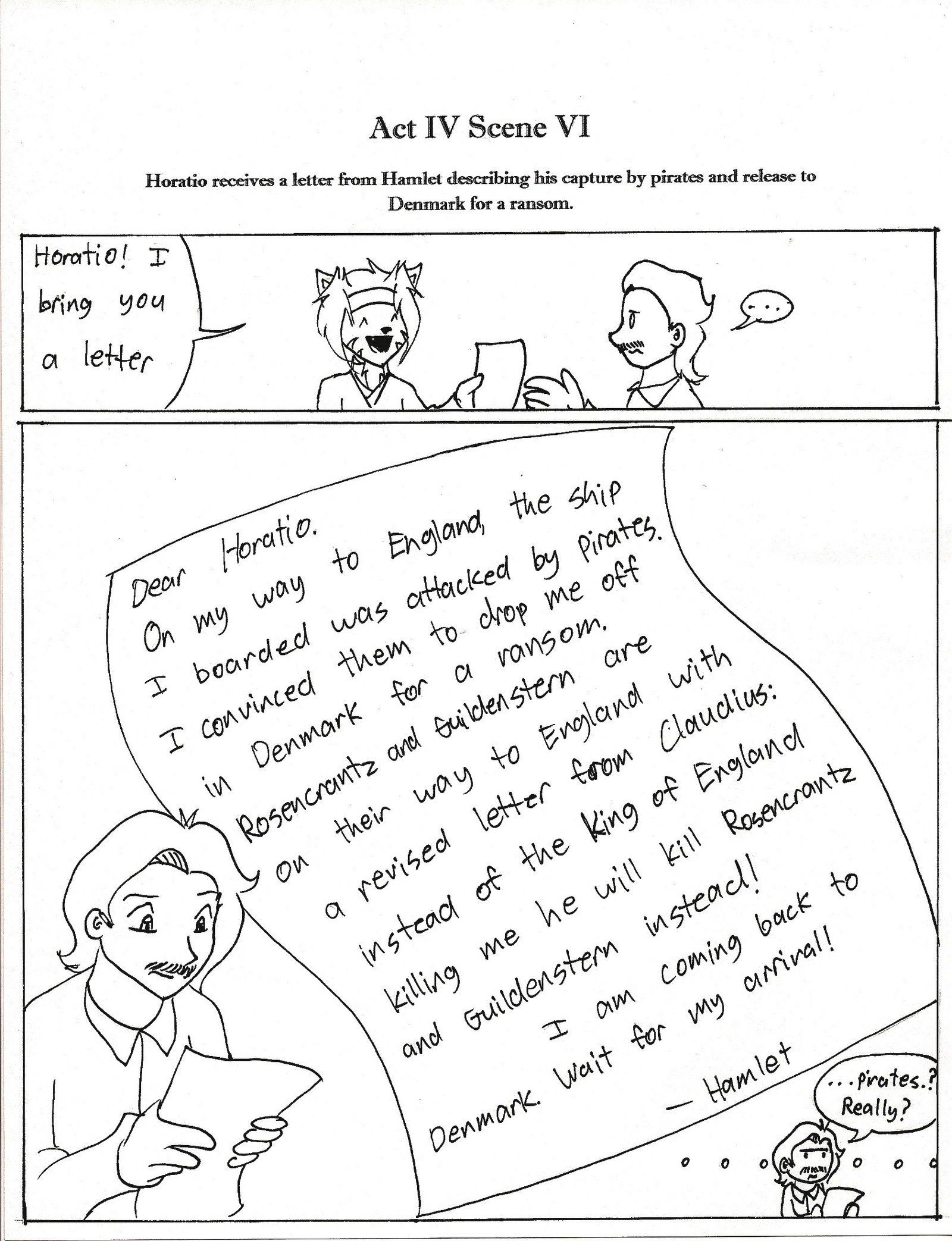 Alliteration Worksheets for Middle School Act Scene Horatio is Given Letter Written by Hamlet From