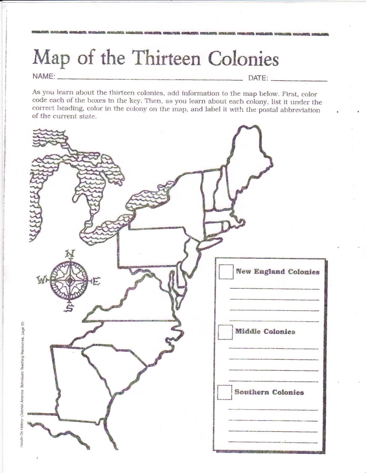 Blank Us Map Quiz Printable Blank Map Of the 13 original Colonies Google Search