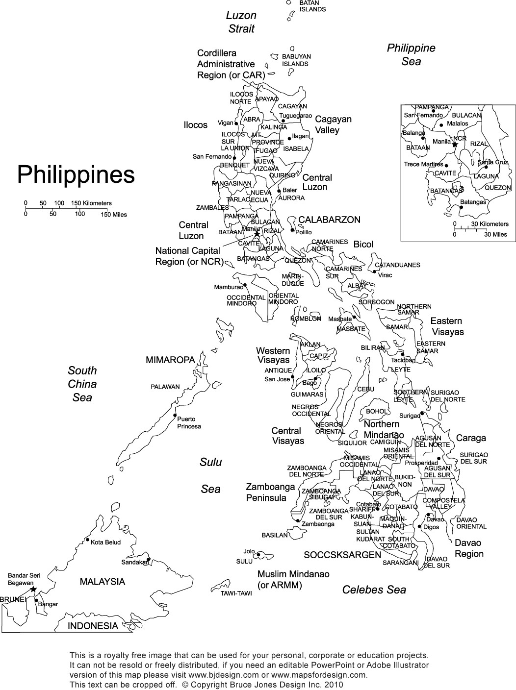 Blank Us Map Quiz Printable Philippines Printable Blank Maps Outline Maps • Royalty Free