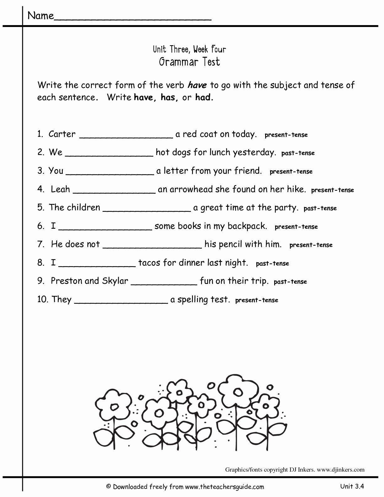 Capitalization Worksheets 4th Grade Pdf 2nd Grade Grammar Worksheets Pdf New Worksheets for All