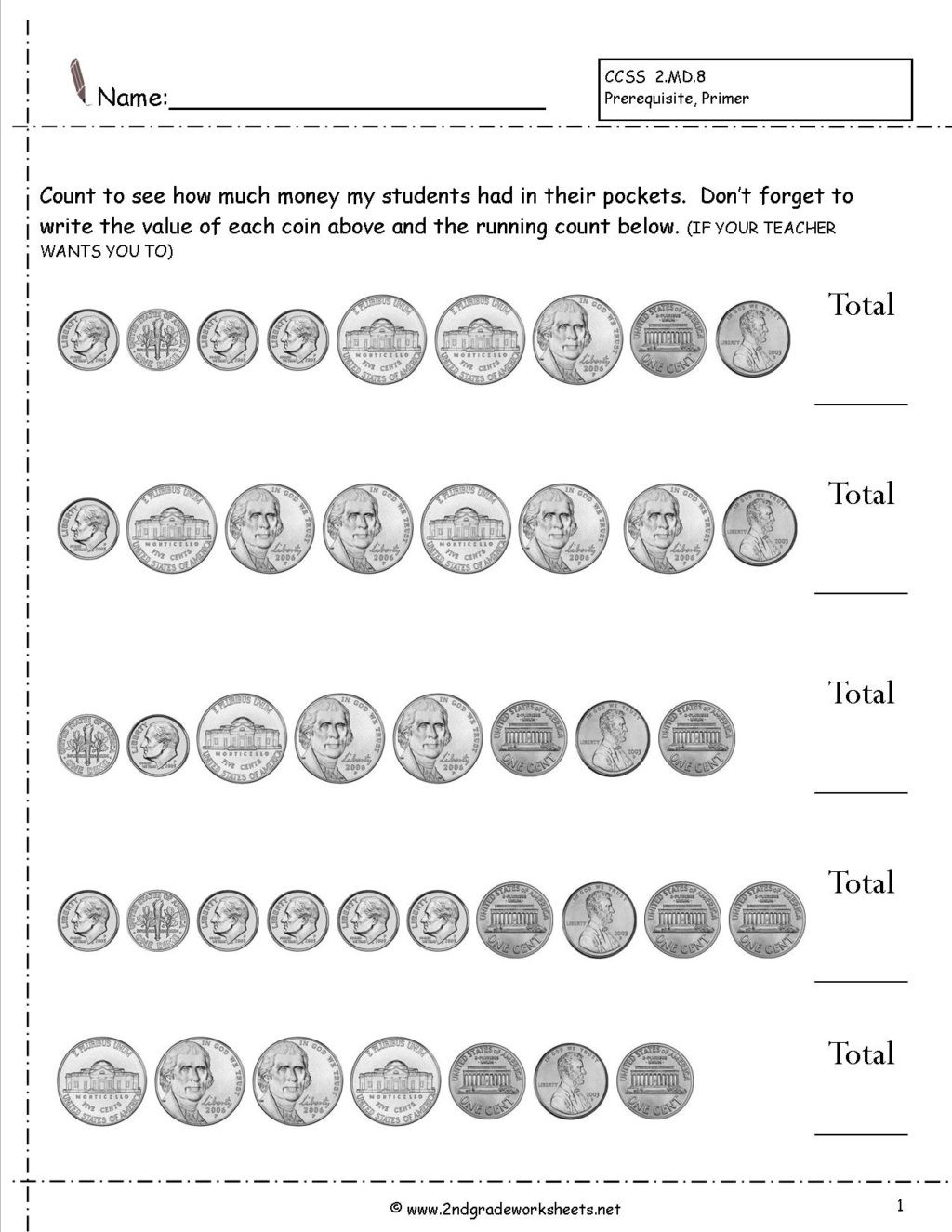 Coin Worksheets for 2nd Grade Worksheet Counting Coins and Money Worksheets Printouts