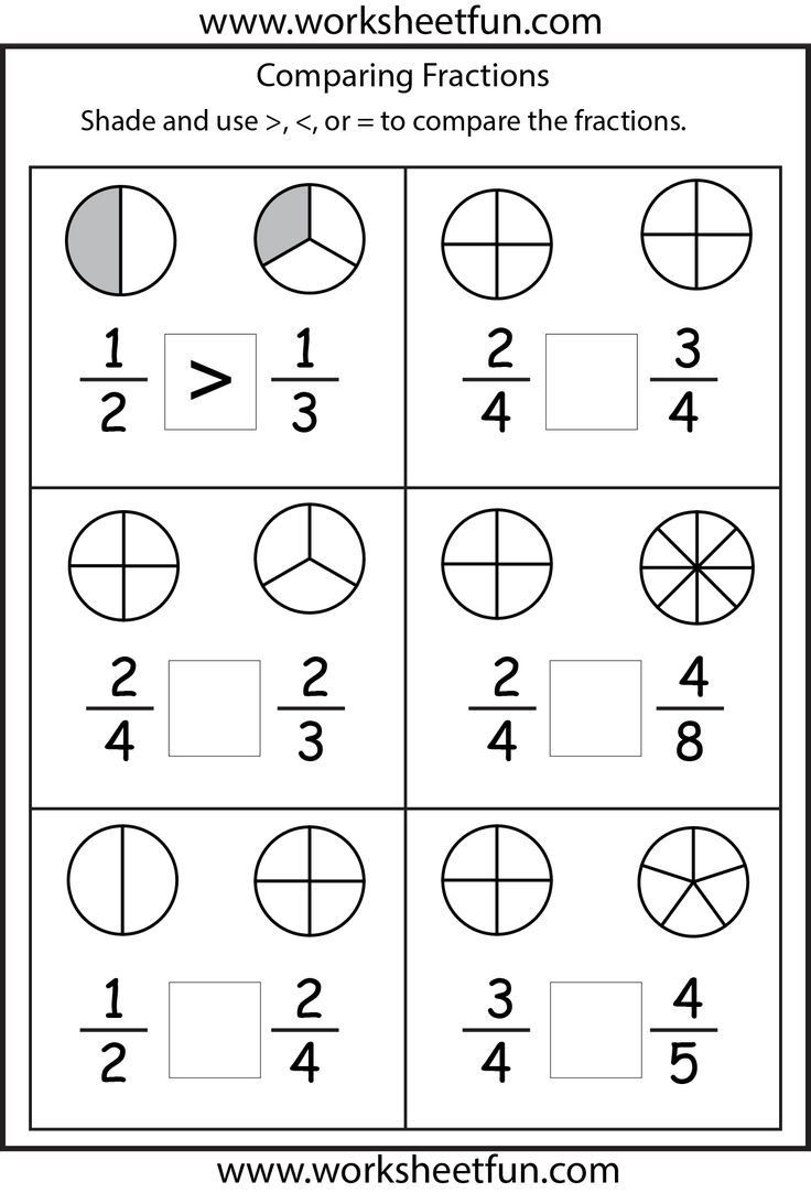 Comparing Numbers Worksheets 2nd Grade Paring Fractions Worksheets