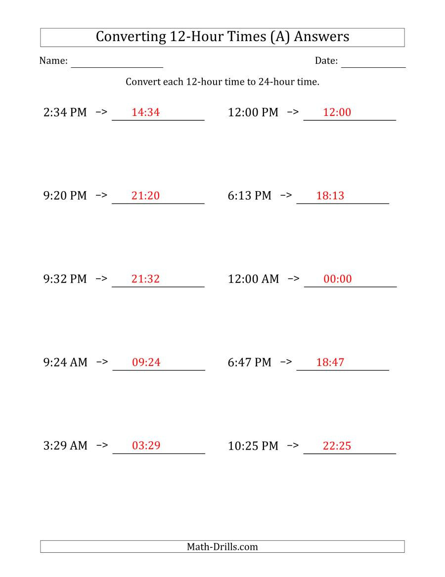 Conversion Worksheets 5th Grade Converting From Hour to Times Conversion Worksheets Convert
