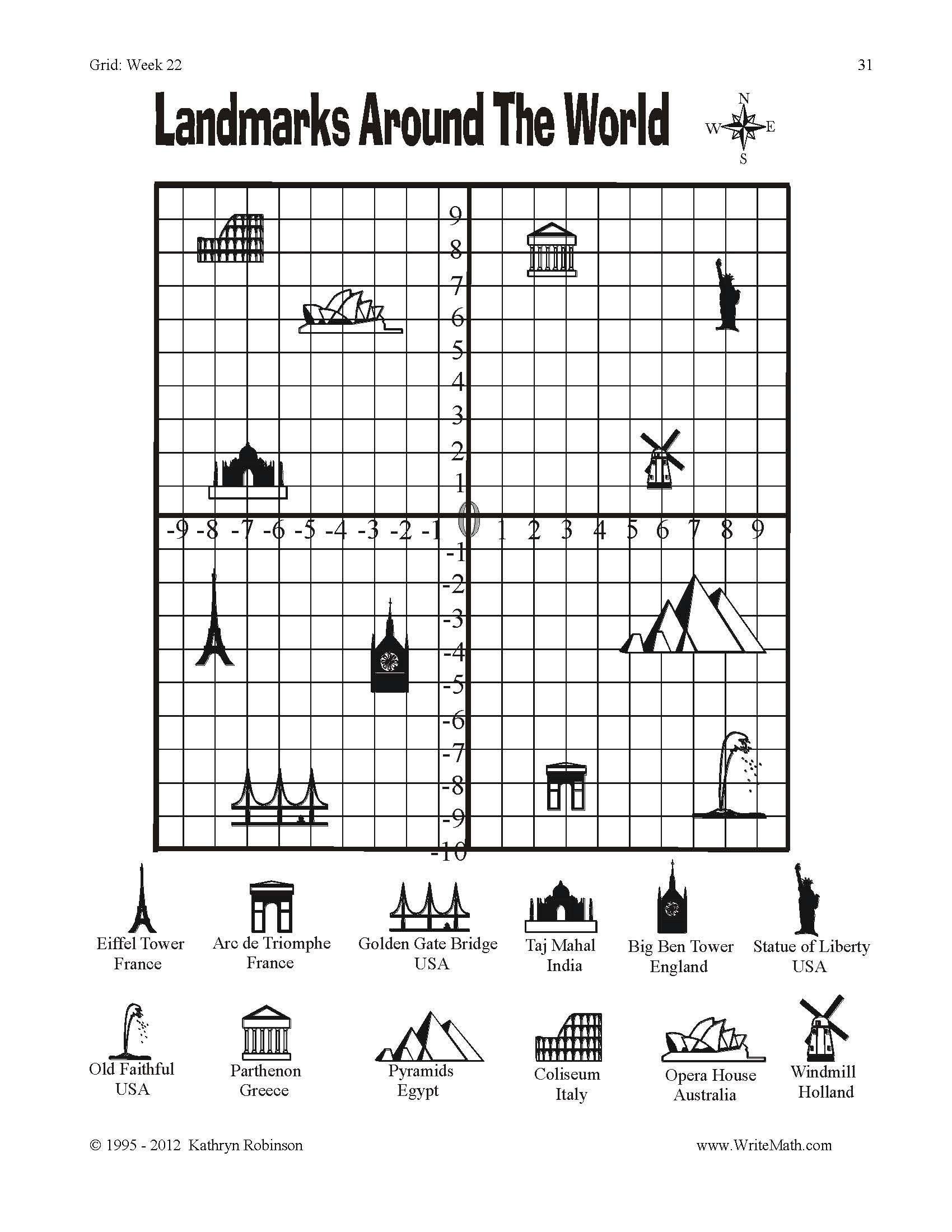 Coordinate Grid Pictures 5th Grade Coordinate Grid Worksheets 3rd 4th 5th Grade Math Just