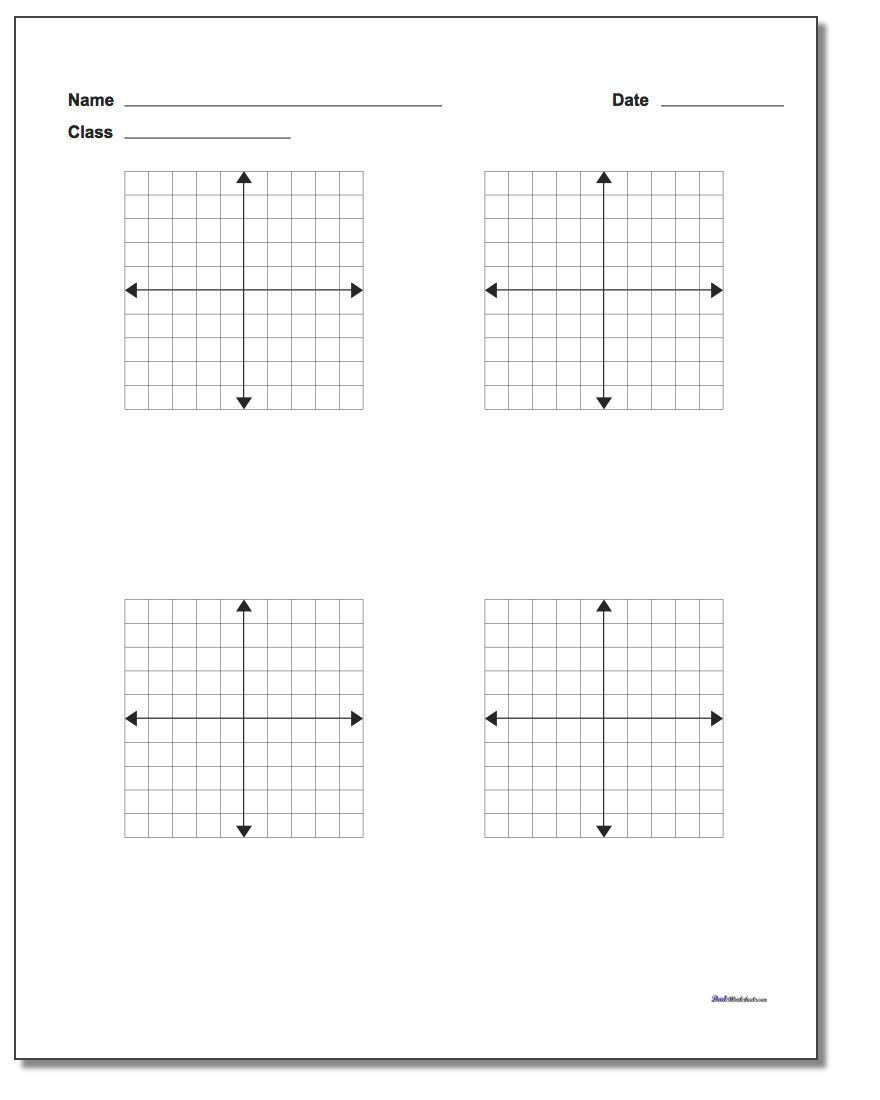 Coordinate Plane Worksheets Middle School We Have A Collection Of Printable Pdf Coordinate Planes that