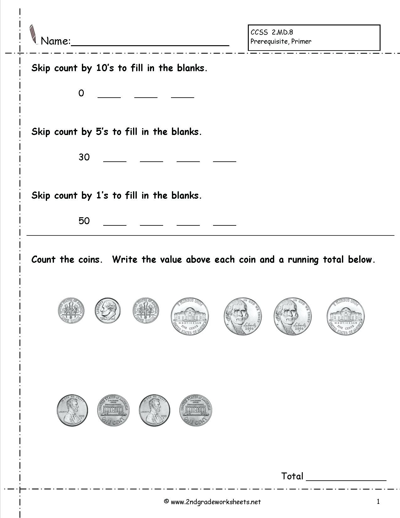 Counting Coins Worksheets 2nd Grade Money Worksheets for 2nd Graders Gta V Earn Money