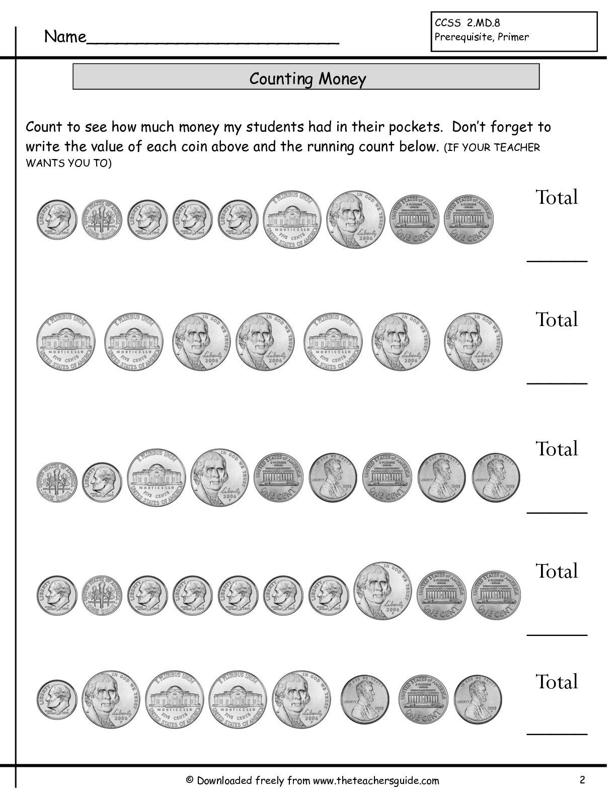 Counting Coins Worksheets First Grade Counting Coins Worksheet with Images