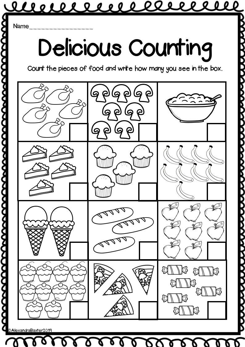 Counting Worksheets Preschool Counting to Worksheets for Kindergarten Distance Learning