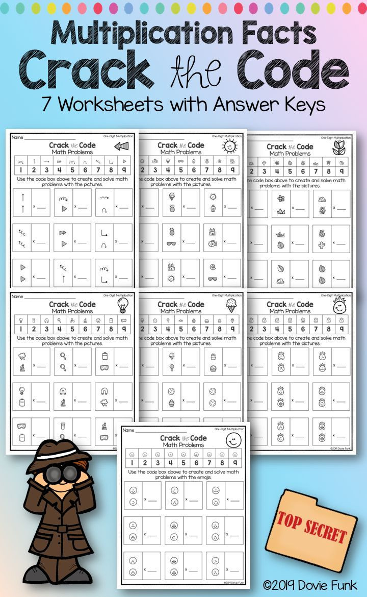 Cracking the Code Math Worksheets Pin On Grades 3 5