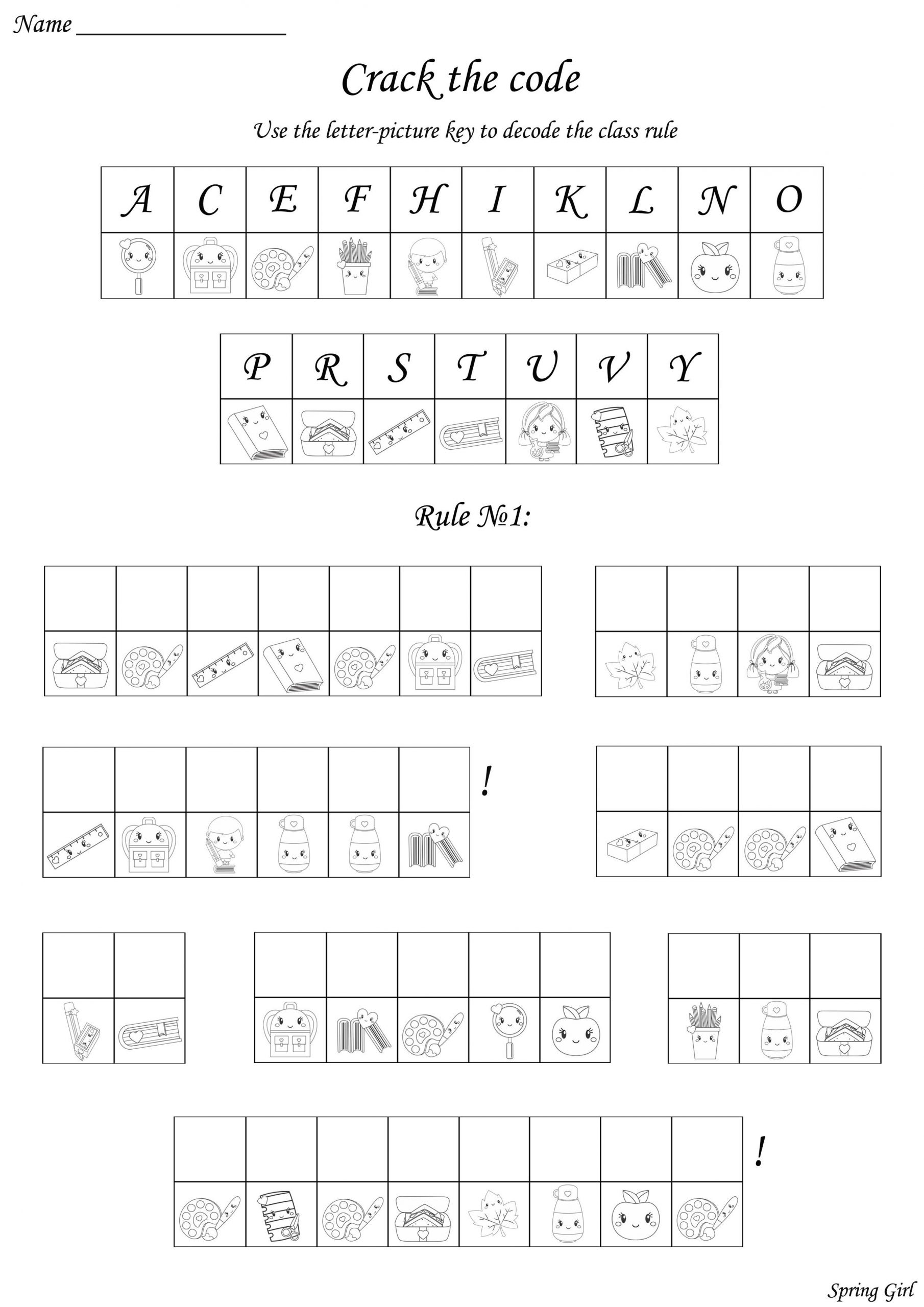 Cracking the Code Math Worksheets Pin On Mystery Games