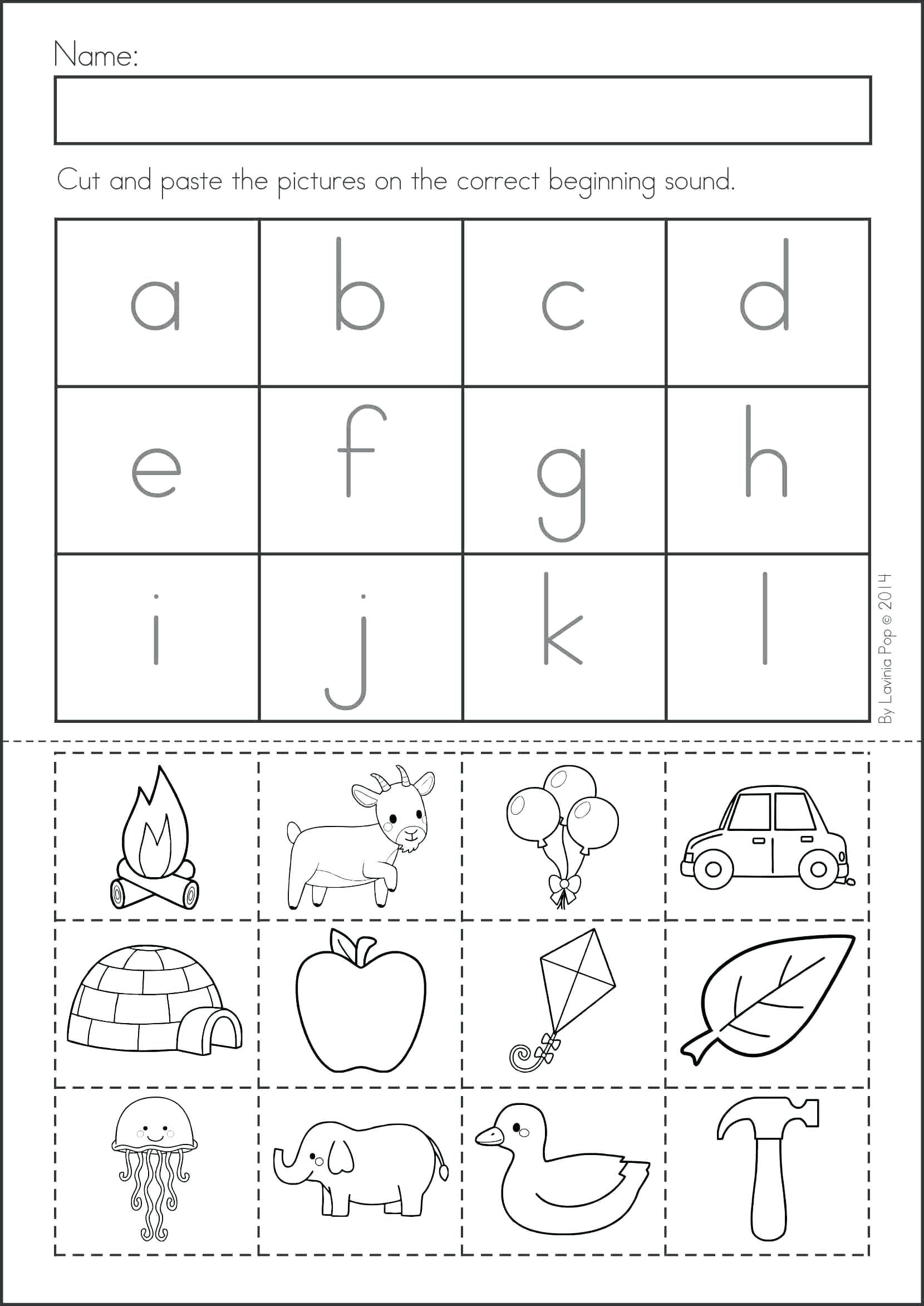Cut and Paste Math Worksheets Free Worksheets for Kindergarten Cut and Paste