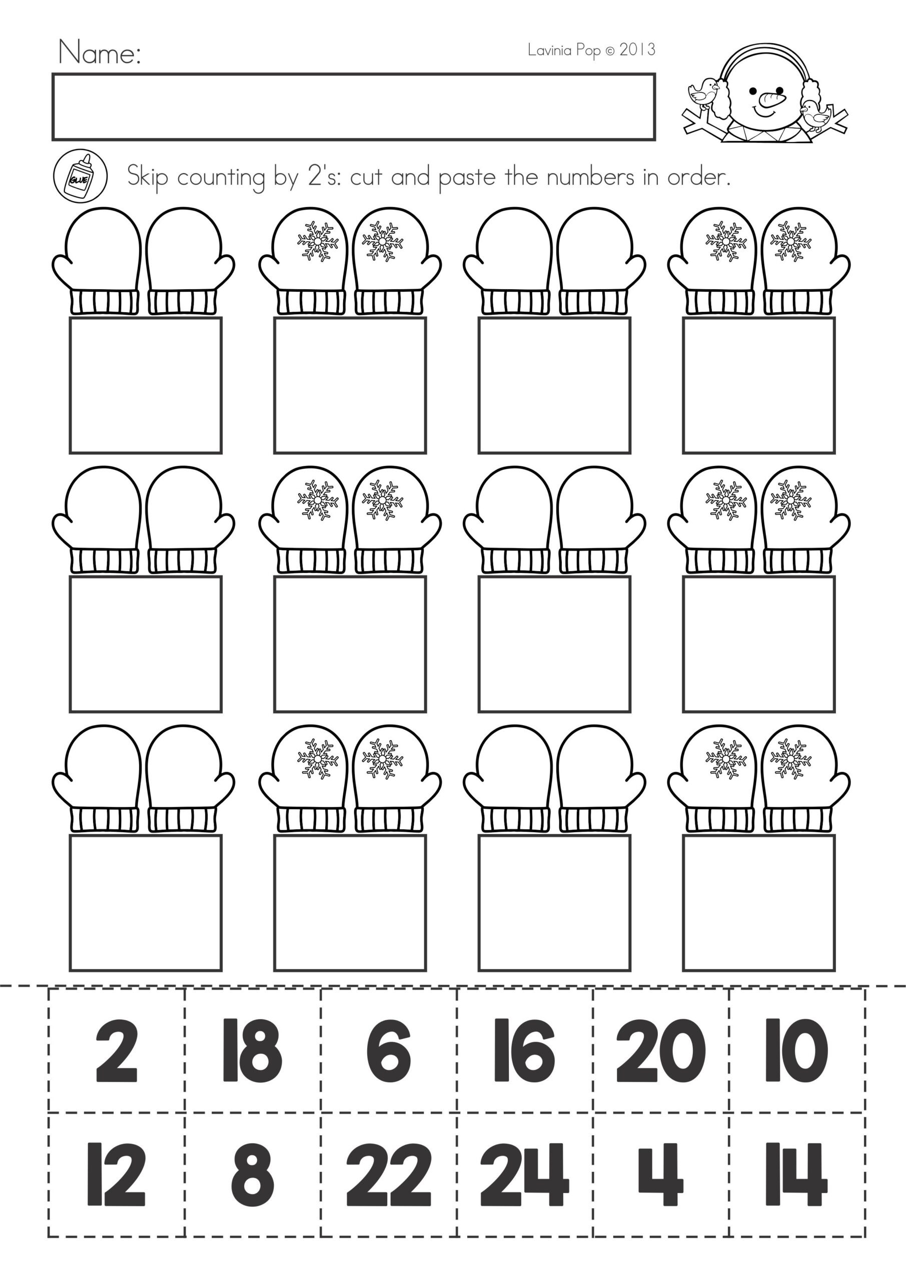 Cut and Paste Math Worksheets Math Worksheets for Kindergarten Cut and Paste 2nd Grade
