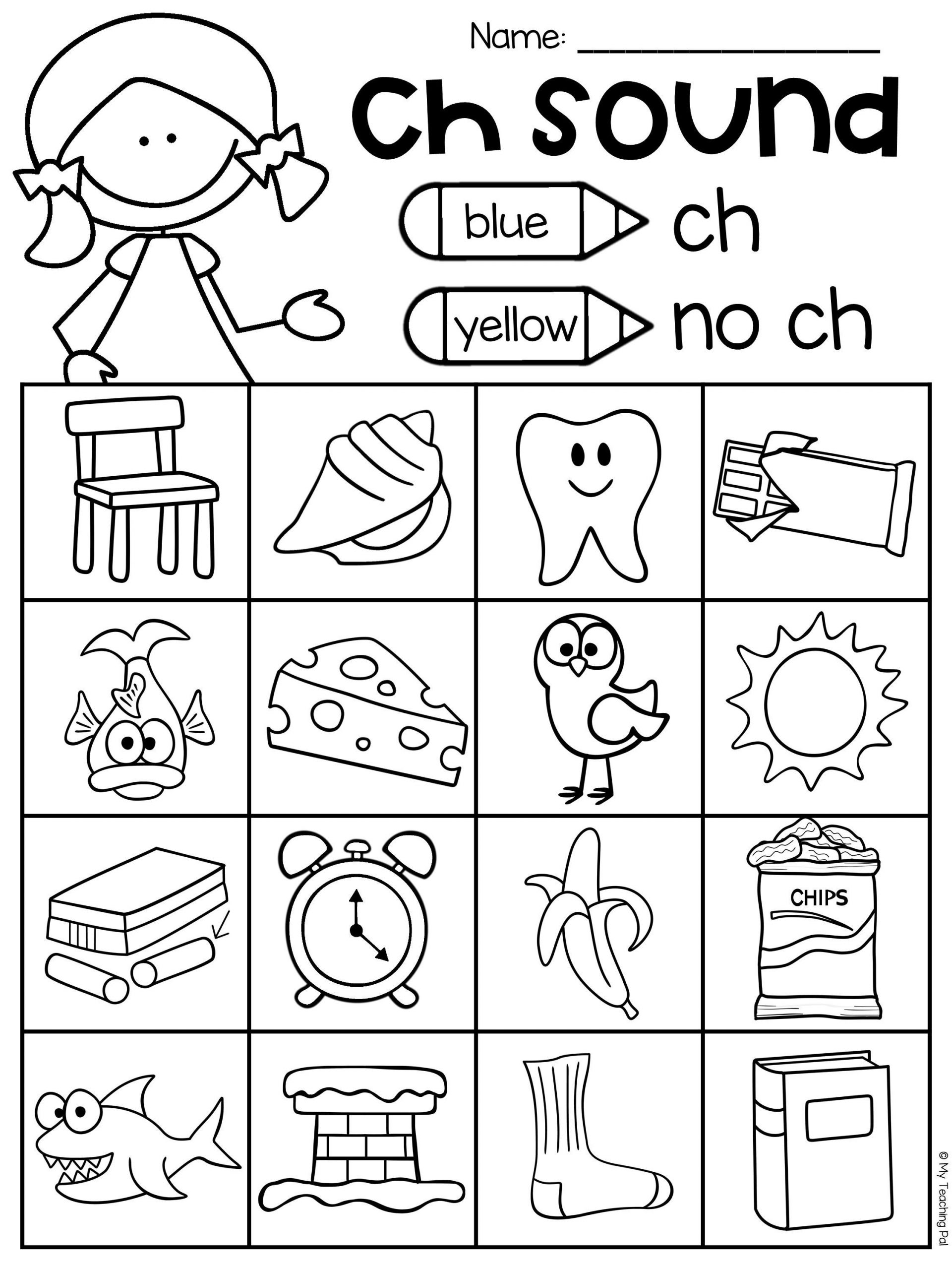Digraph Worksheets for First Grade Ch Worksheet Packet Digraphs Worksheets