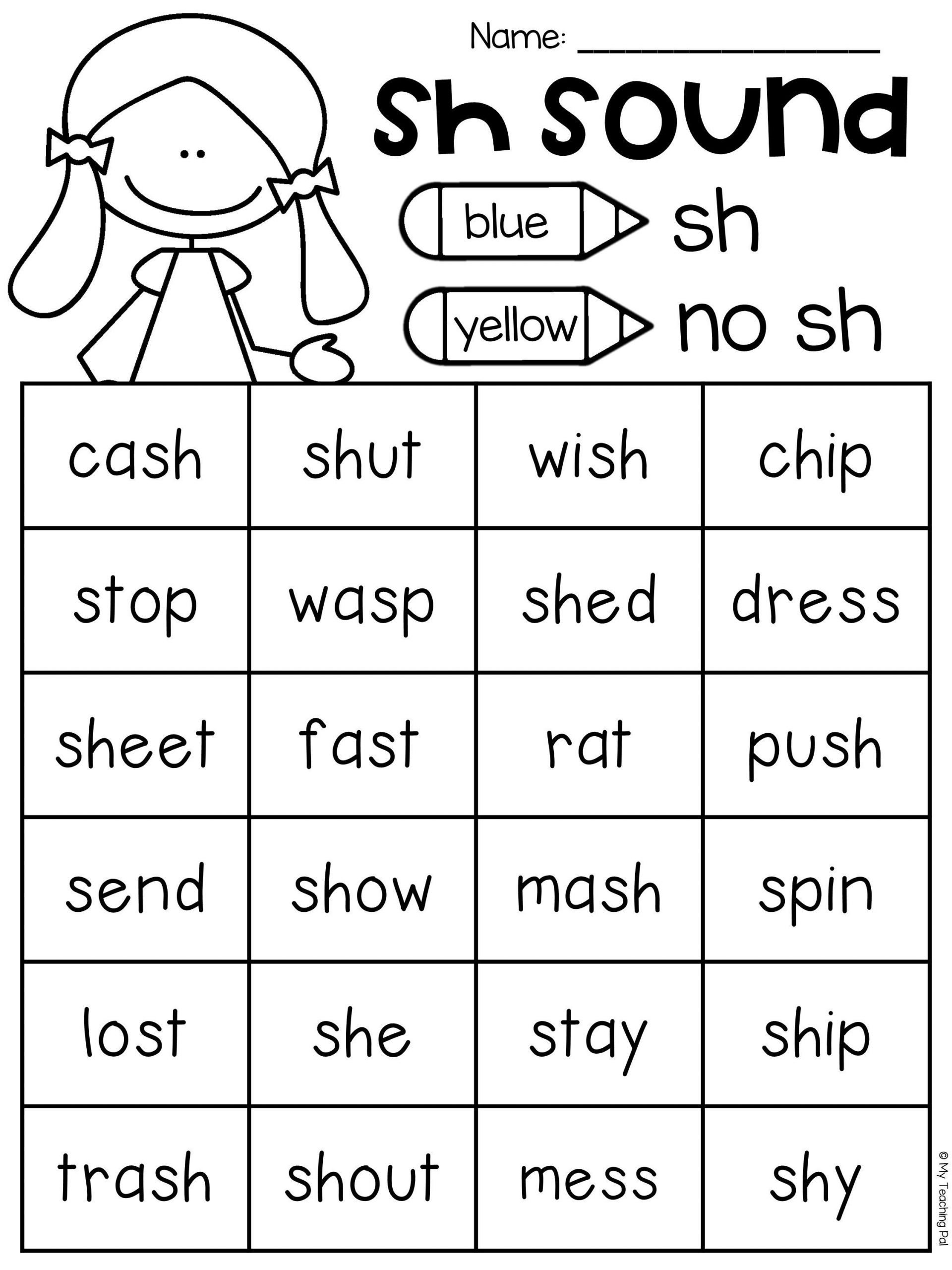 Digraph Worksheets for First Grade Sh Worksheet Packet Digraphs Worksheets Distance